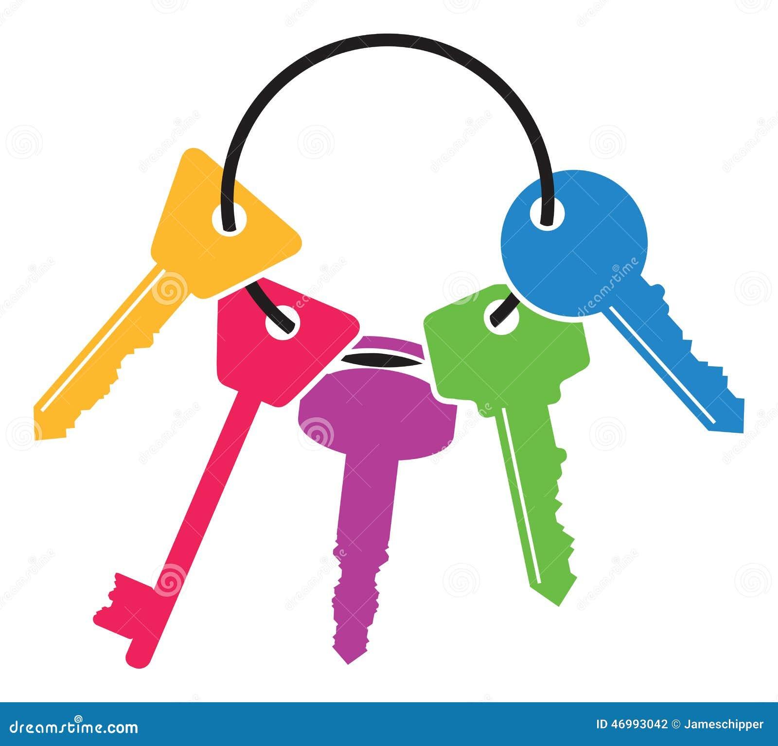Vector Key Illustration: Colourful Set Of Keys Stock Vector. Illustration Of Image