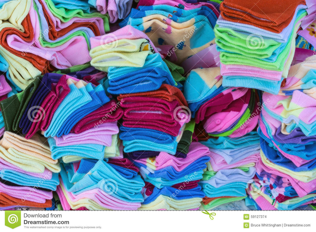 Download Colourful Socks stock photo. Image of fabric, many, colourful - 59127374