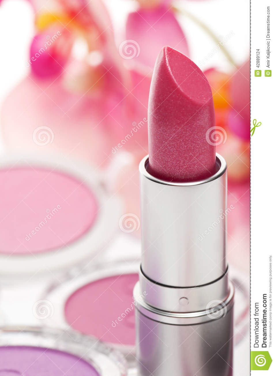 Colourful Soft Pink Lipstick Stock Photo - Image: 42889124