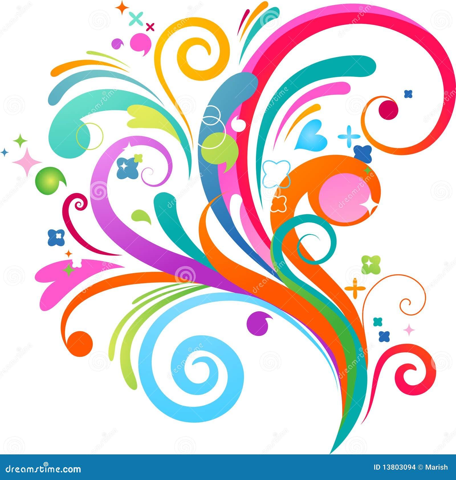 Colourful splash background