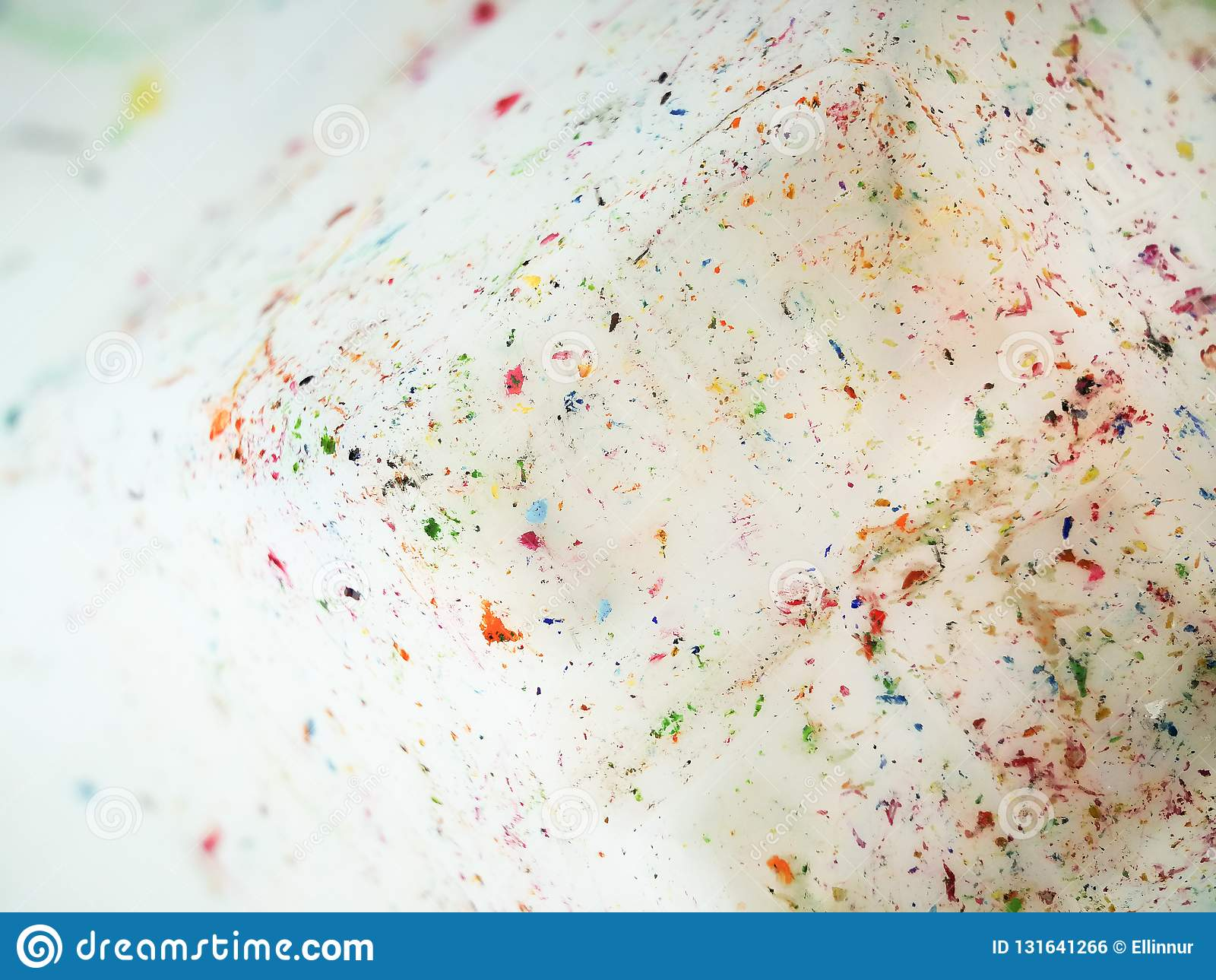 Colourful stains on a white background.