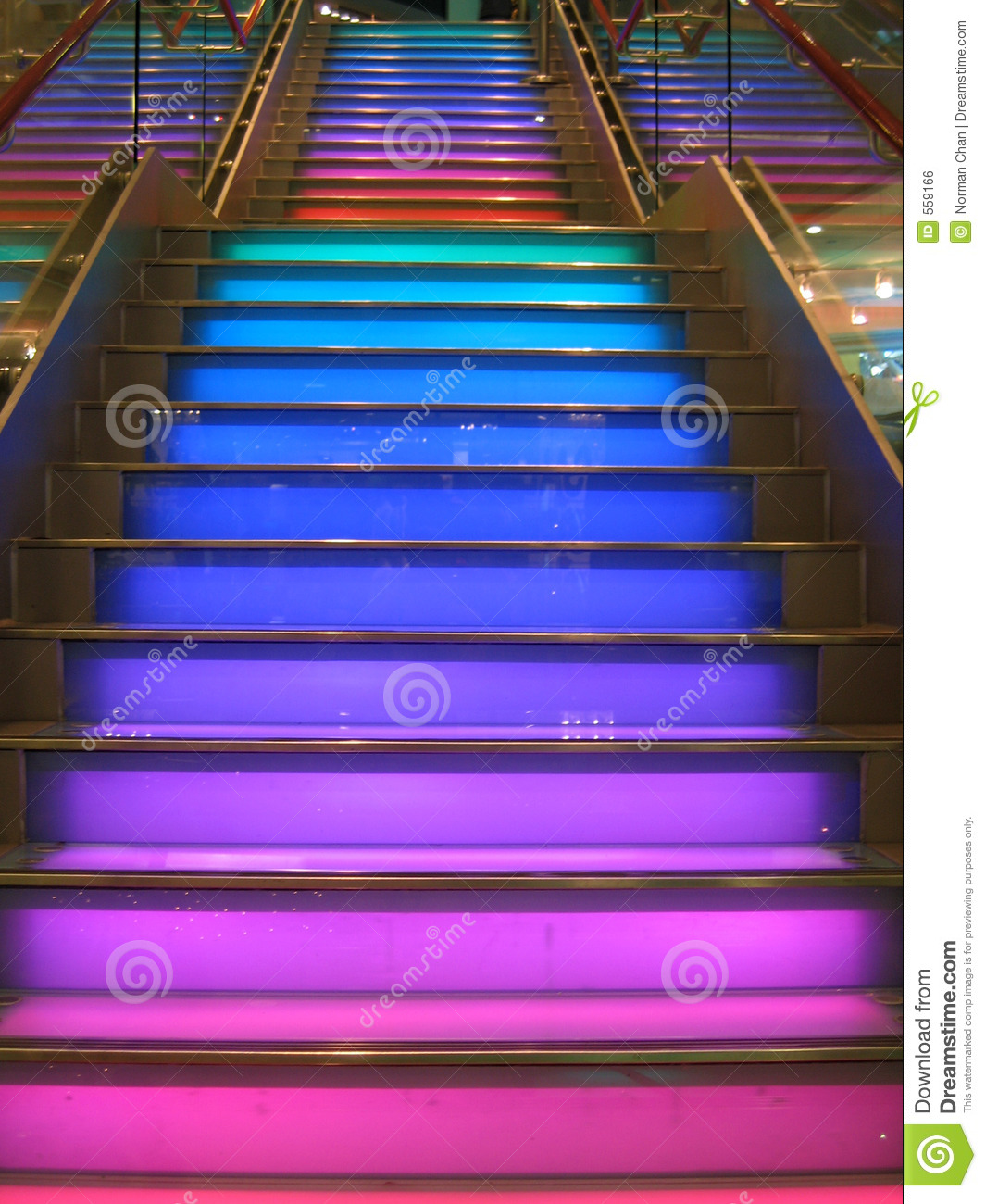 Colourful Stairs Stock Photo Image Of Lights Green