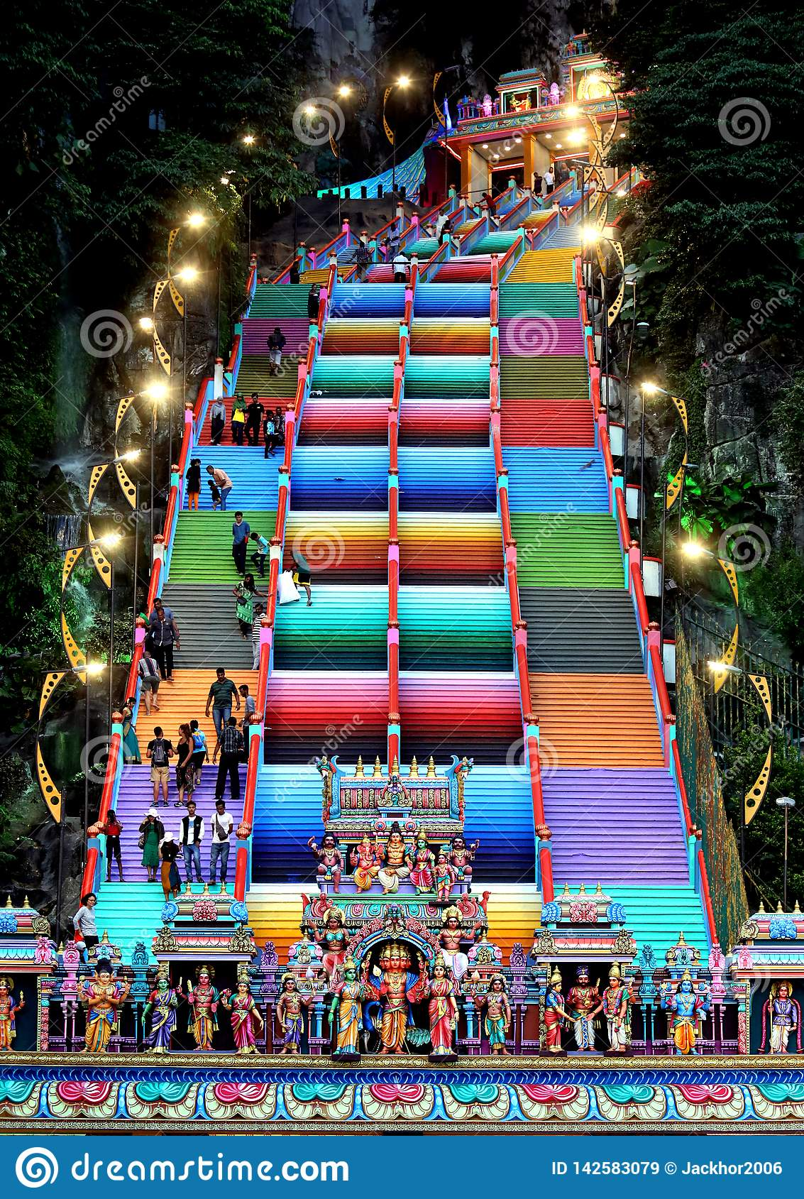 The colourful steps at Batu Caces, Mlaysia