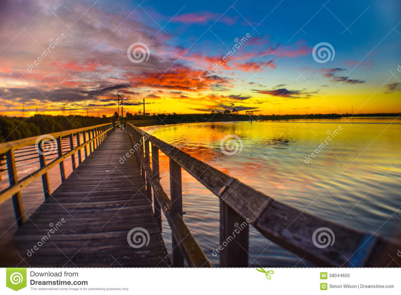 Colourful Sunset At Garden Island Stock Photo Image