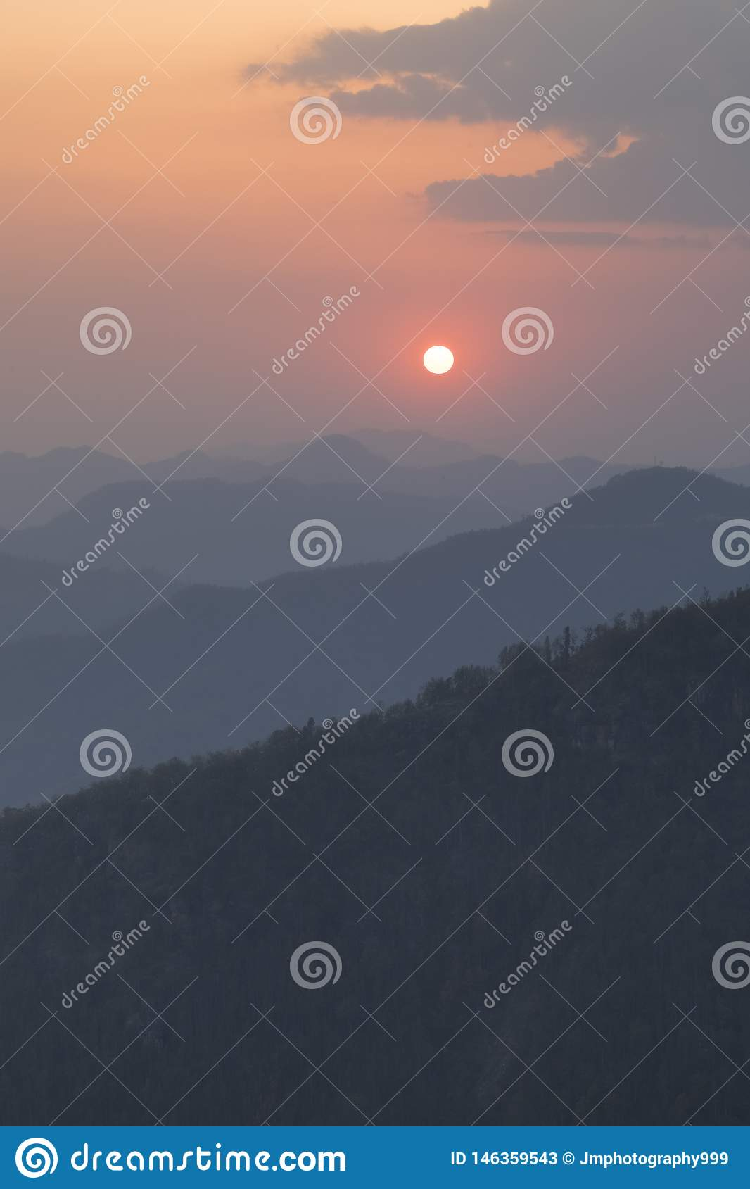 Colourful Sunset view from Bandipur tophill viewpoint