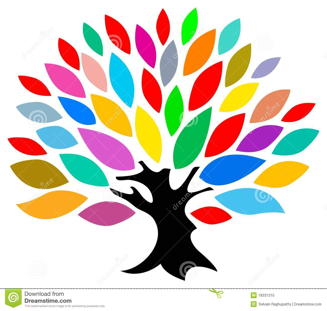 Colourful tree stock vector Illustration of symbol colourful
