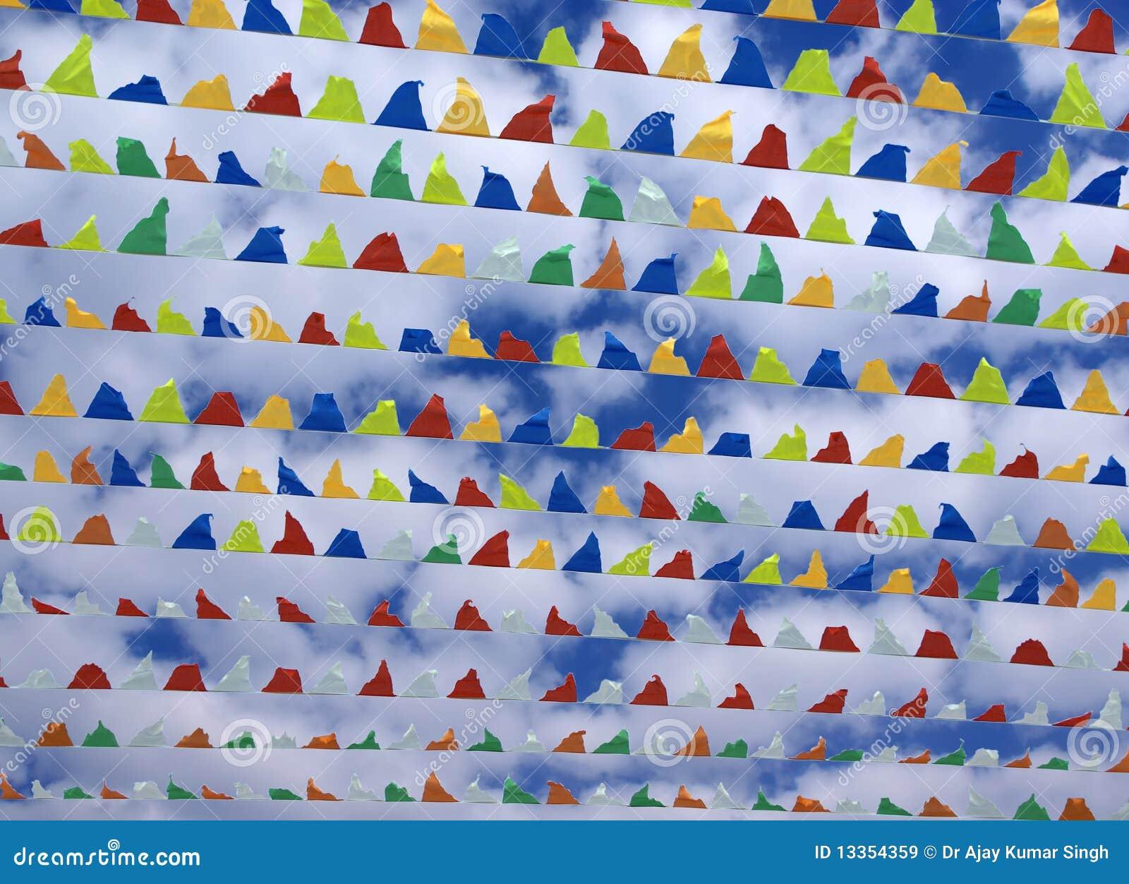 Colourful Triangular Decorative Flags Stock Image Image Of