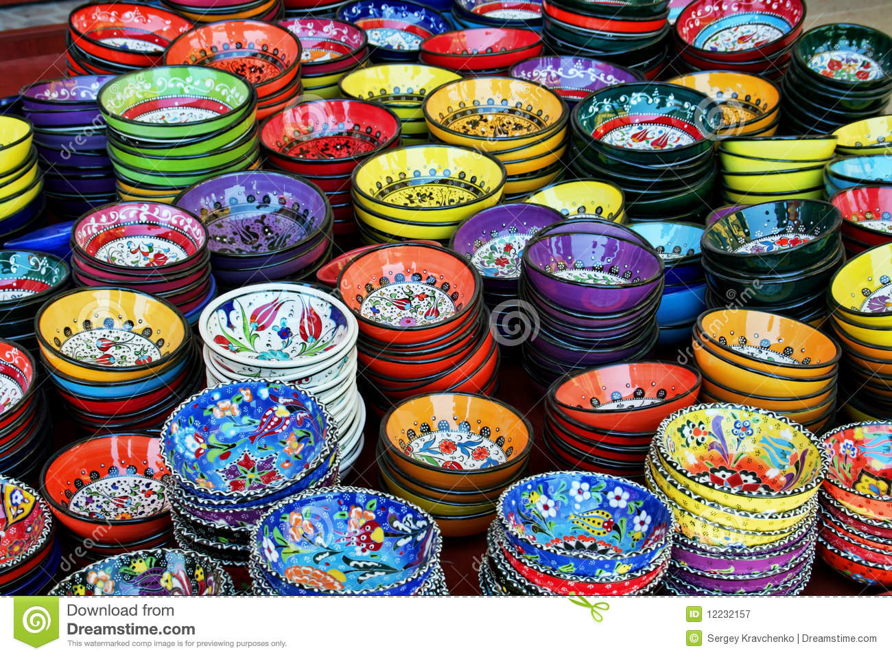 Turkish Tea Cups Stock Image Image Of Turkish Pottery