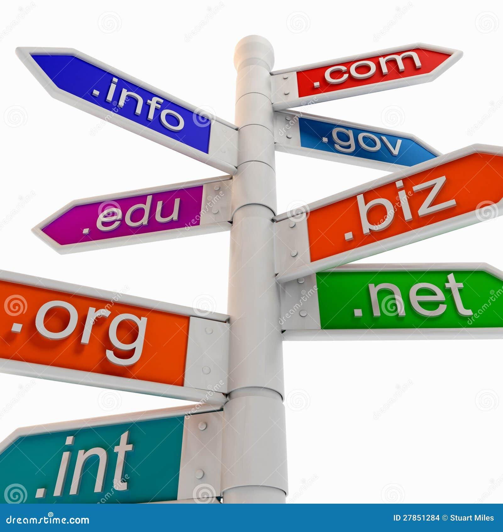 Colourful URL kierunkowskaz Pokazuje WWW