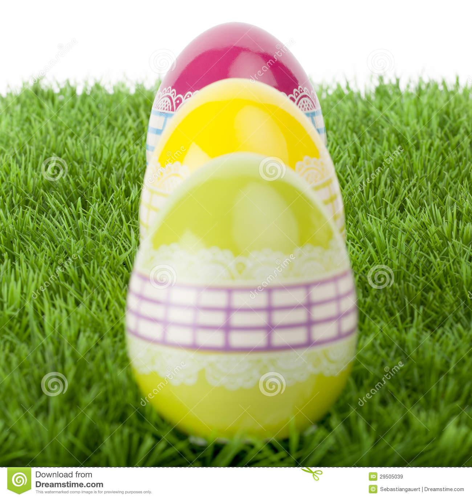 Colourful vibrant Easter eggs
