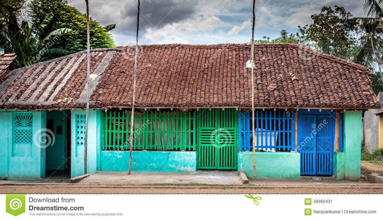 Colourful Village Home In South India Stock Image Image Of Aged