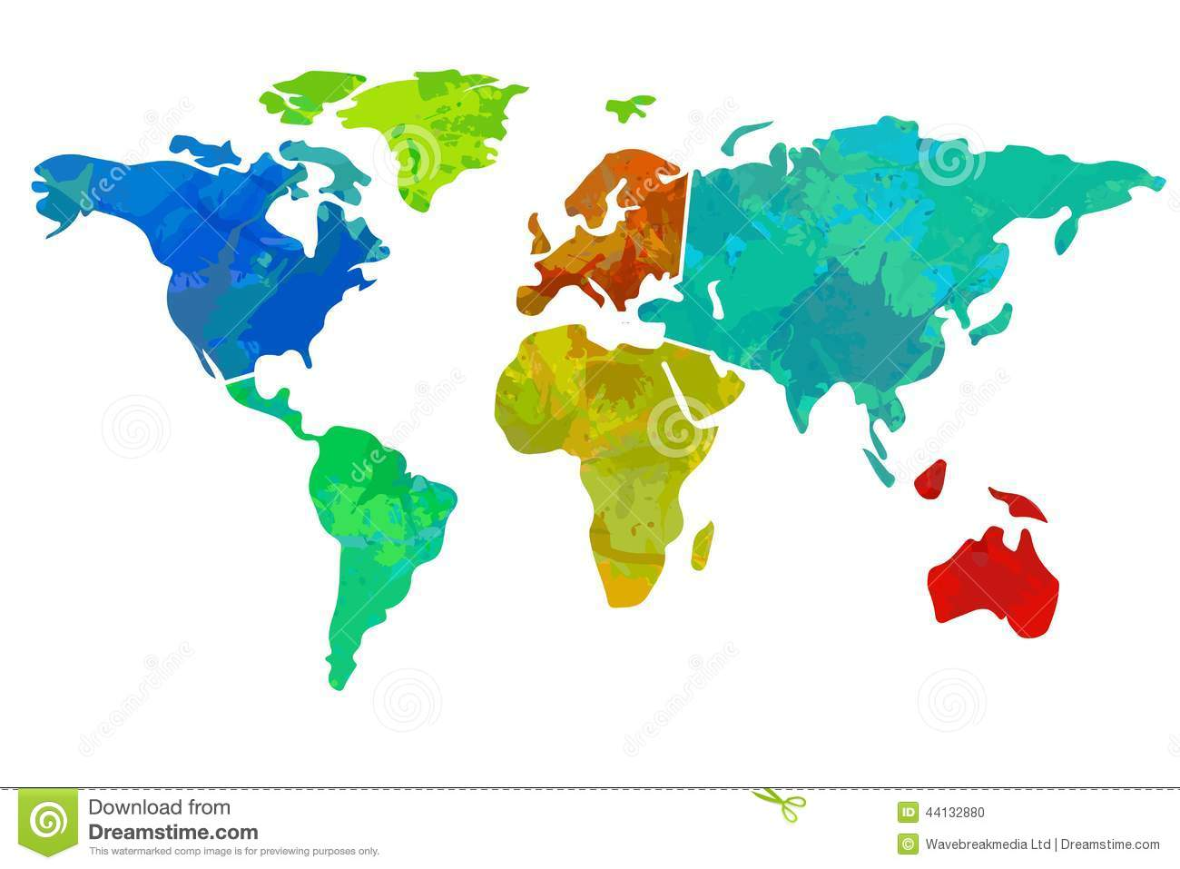Colourful world map stock illustration illustration of background colourful world map gumiabroncs Image collections