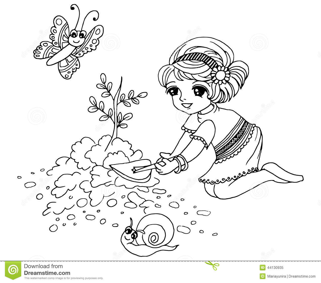 colouring book gardening royalty free illustration - Free Download Colouring Book