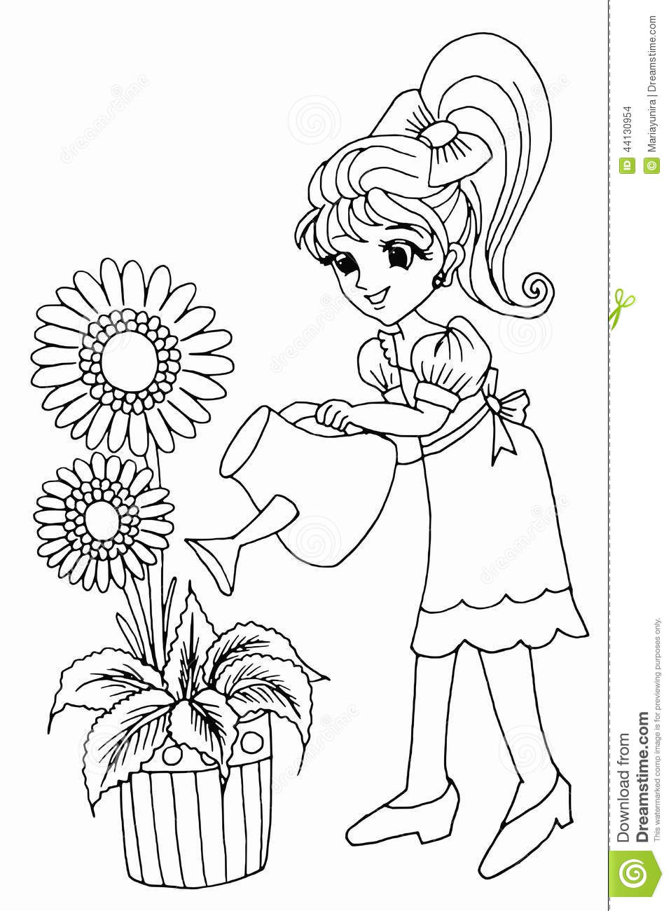 Time Garden Coloring Book Review Colouring Gardening Stock Illustration Image