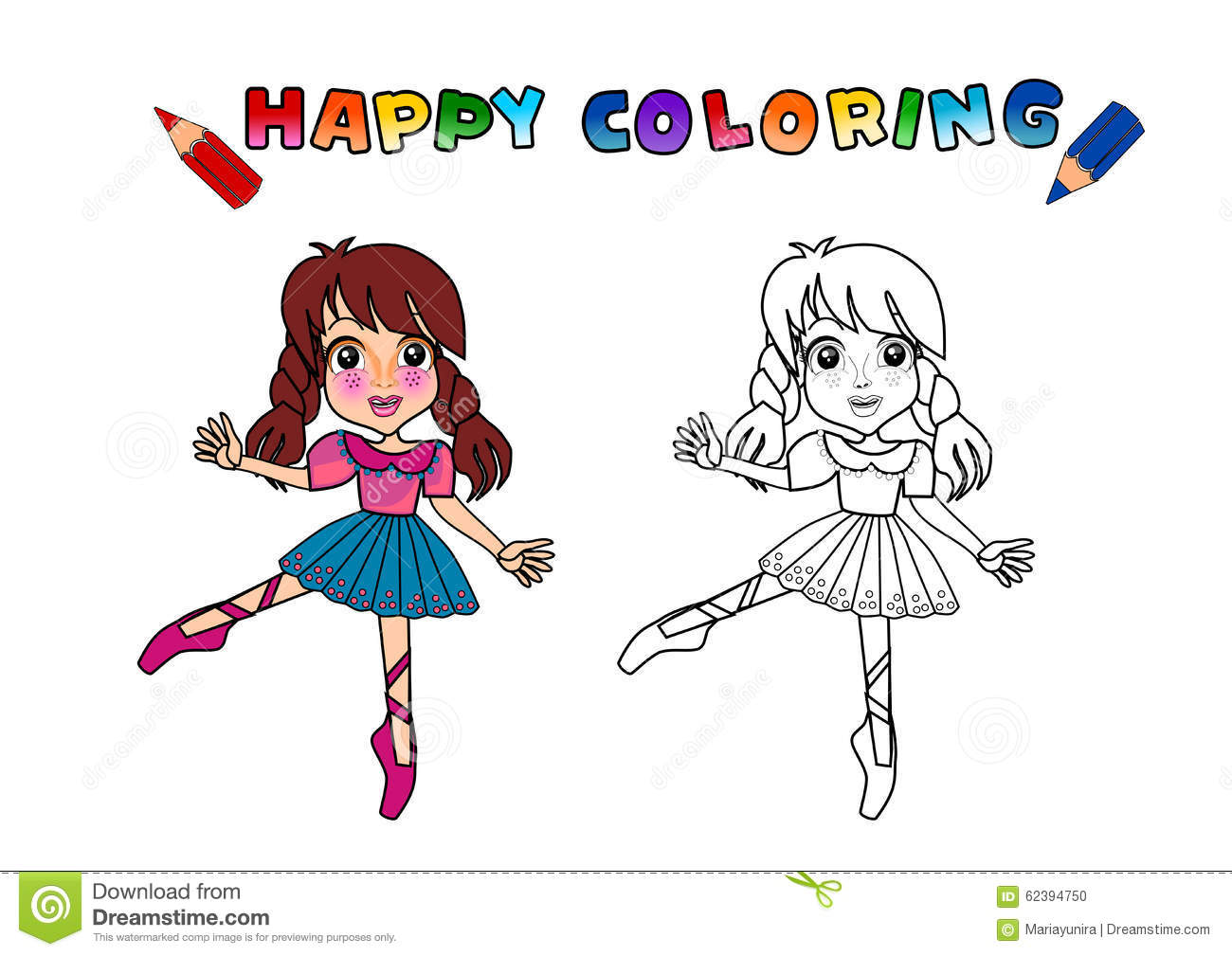 Colouring Book Isolated Stock Illustration. Illustration