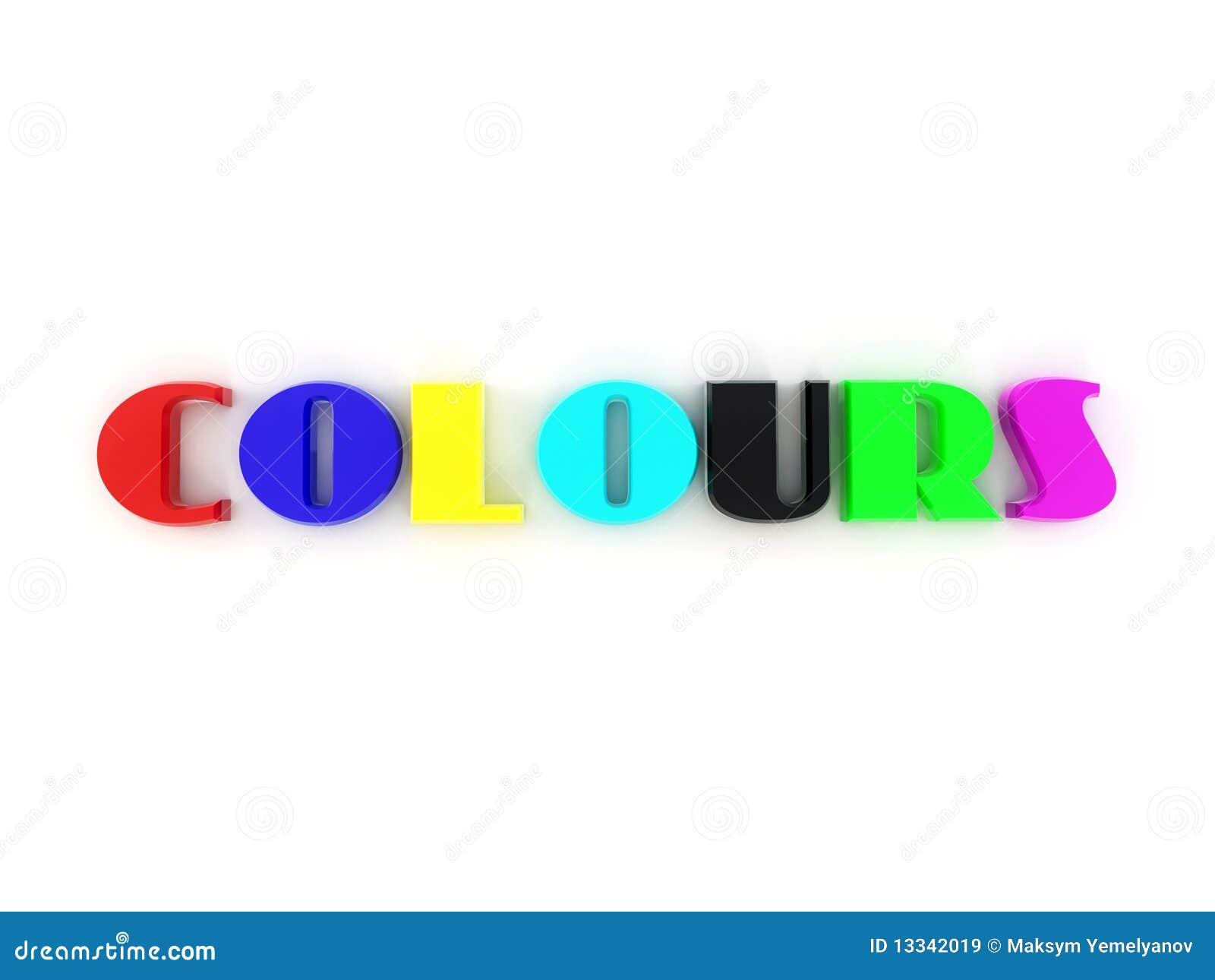 Colours. 3d