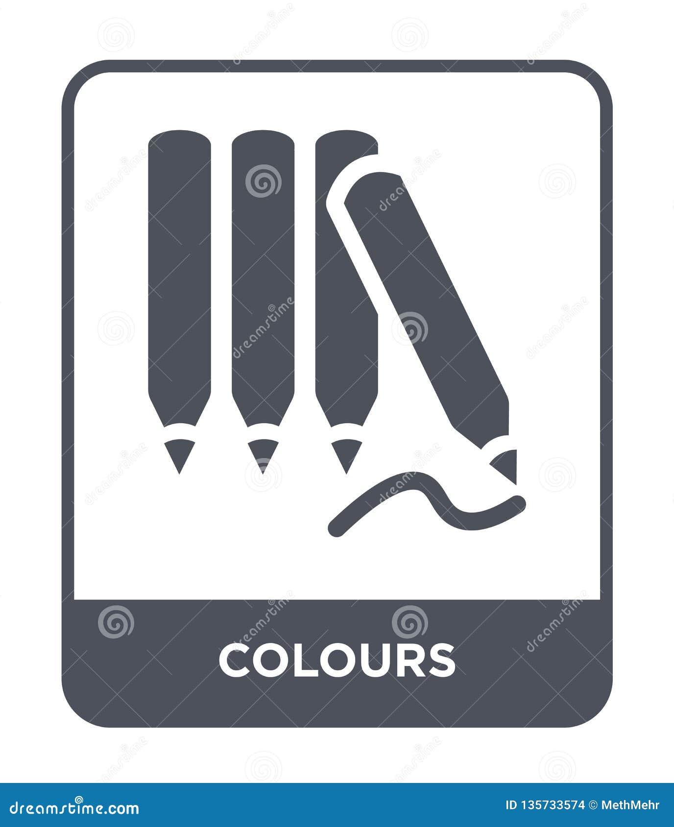 Colours ikona w modnym projekta stylu colours ikonę odizolowywająca na białym tle colours wektorowej ikony prosty i nowożytny pła