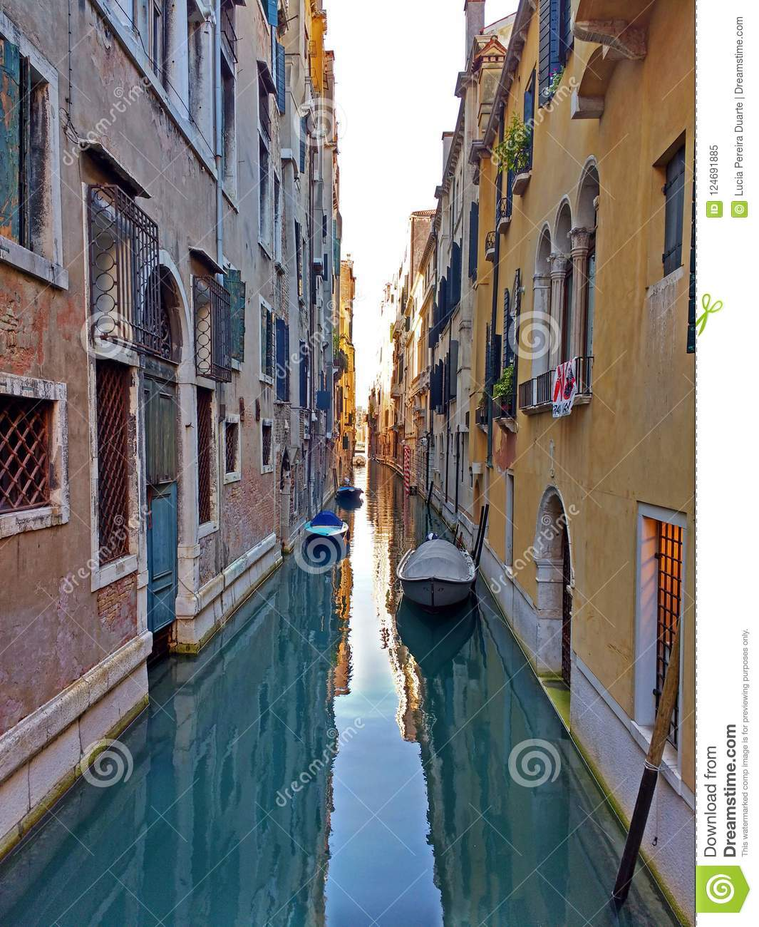 Colours In A Venecian Channel  Stock Image - Image of