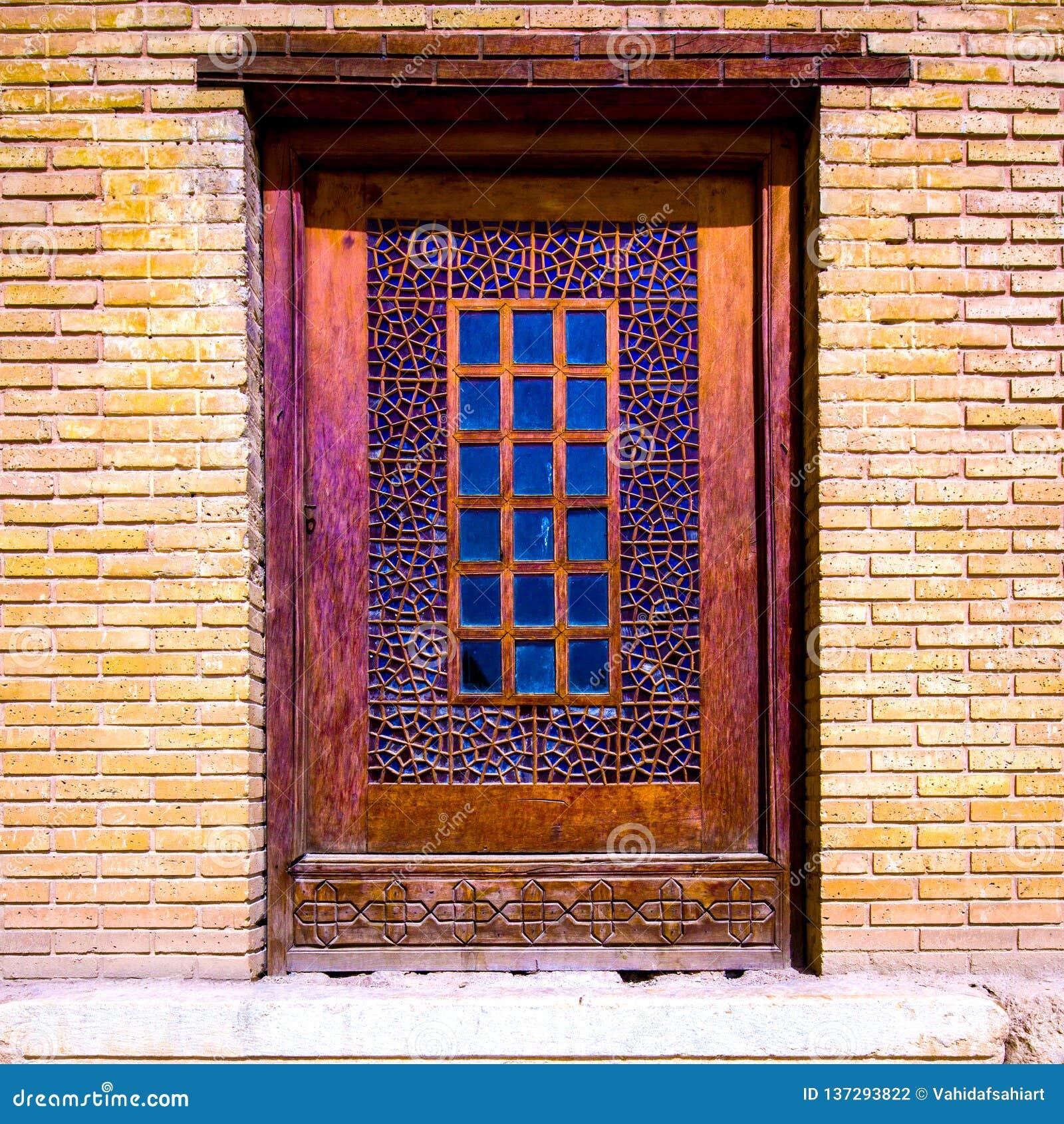 A single sash window in the Arg-e Karim Khan. Shiraz, Iran