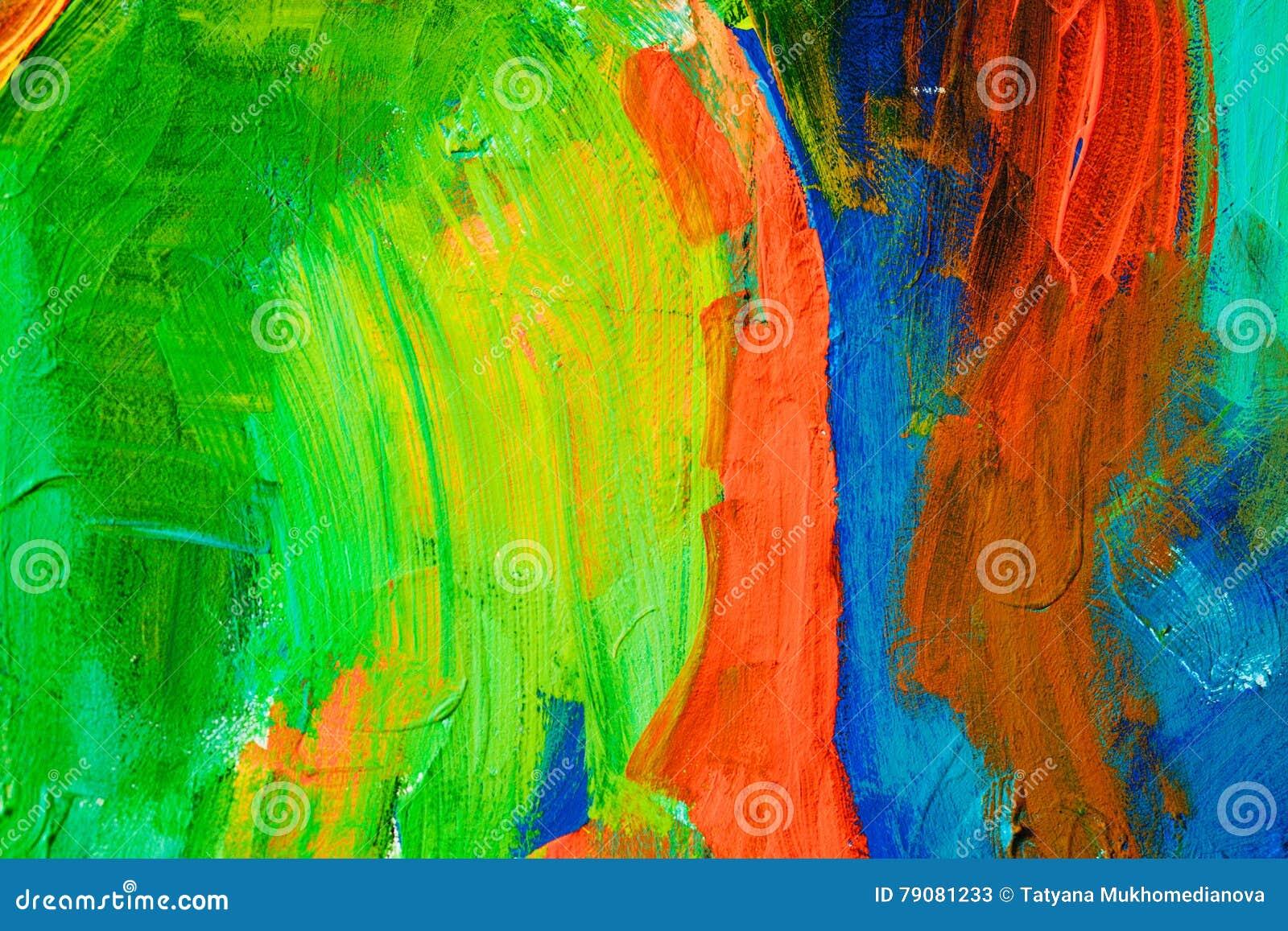 Favorito Colpi Colorati Della Pittura Priorità Bassa Di Arte Astratta  DP63