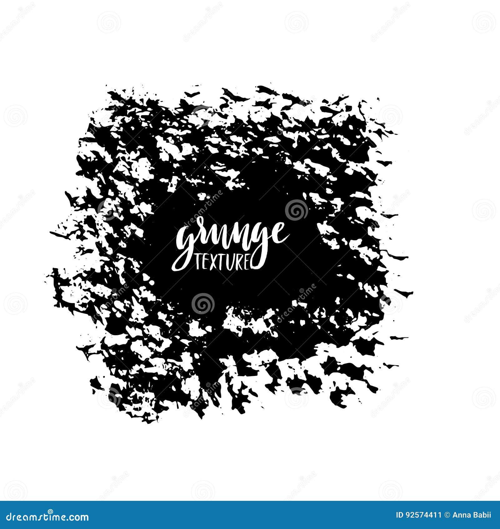 Colpi della spazzola di vettore dell inchiostro Illustrazione di vettore Struttura disegnata a mano dell acquerello di lerciume S