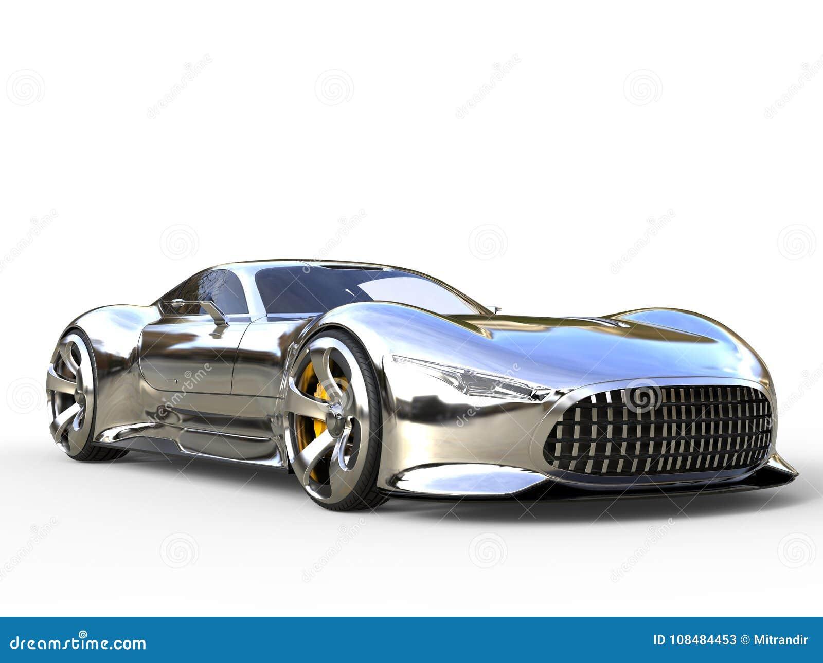 Colpo automobilistico del primo piano di sport eccellenti moderni metallici impressionanti