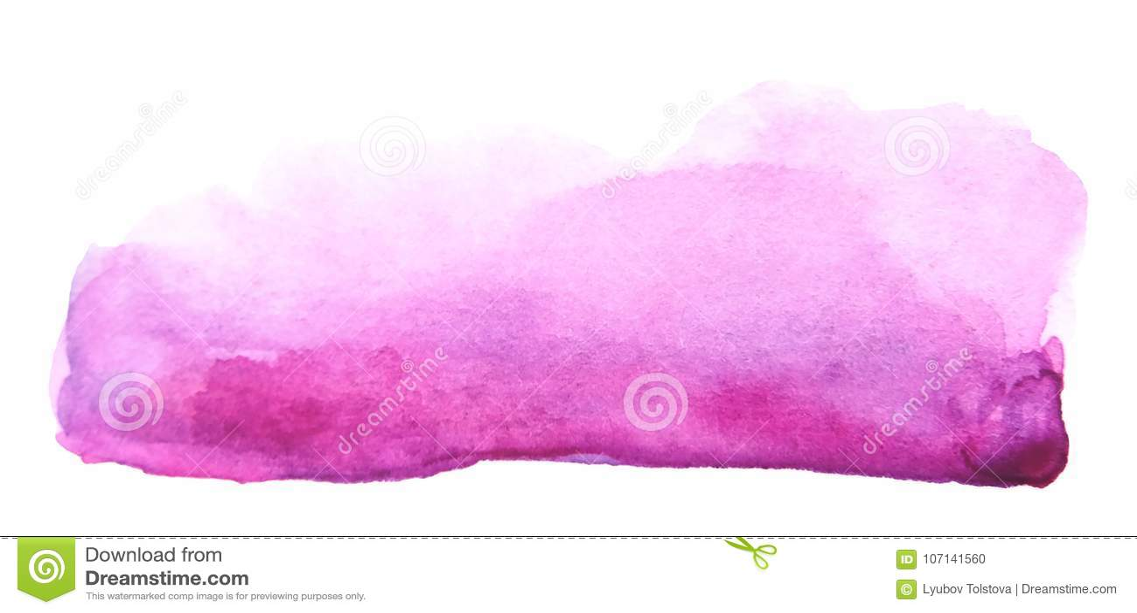 Colpo porpora creativo della spazzola dell acquerello artistico