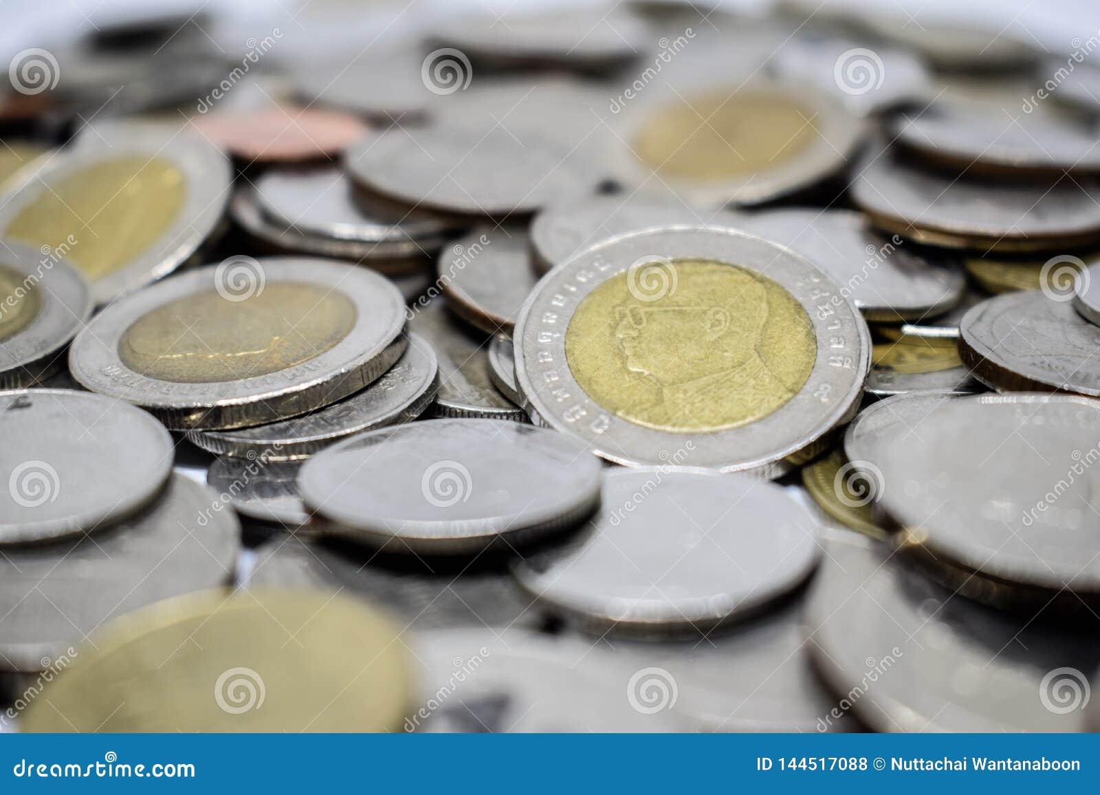 Colse omhoog van Thais muntstuk