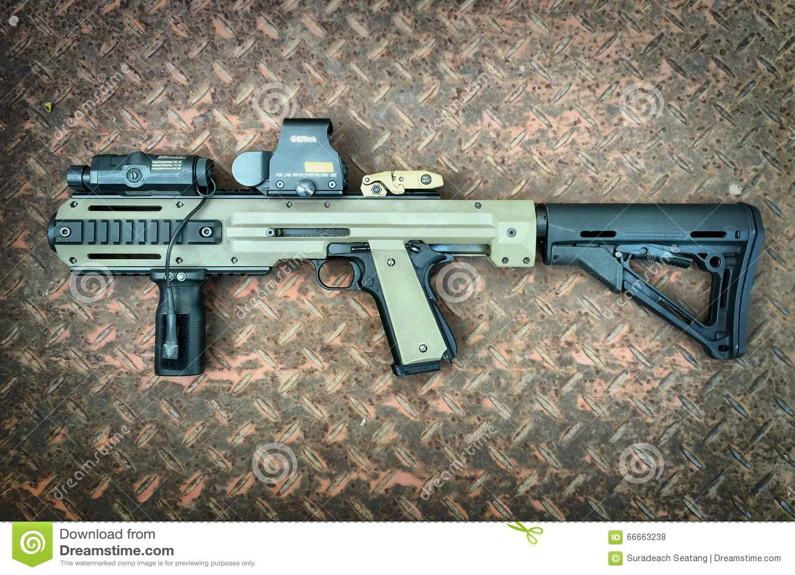 Colt 1911a1 Air Soft Gun With Hera Arms Conversion Kit