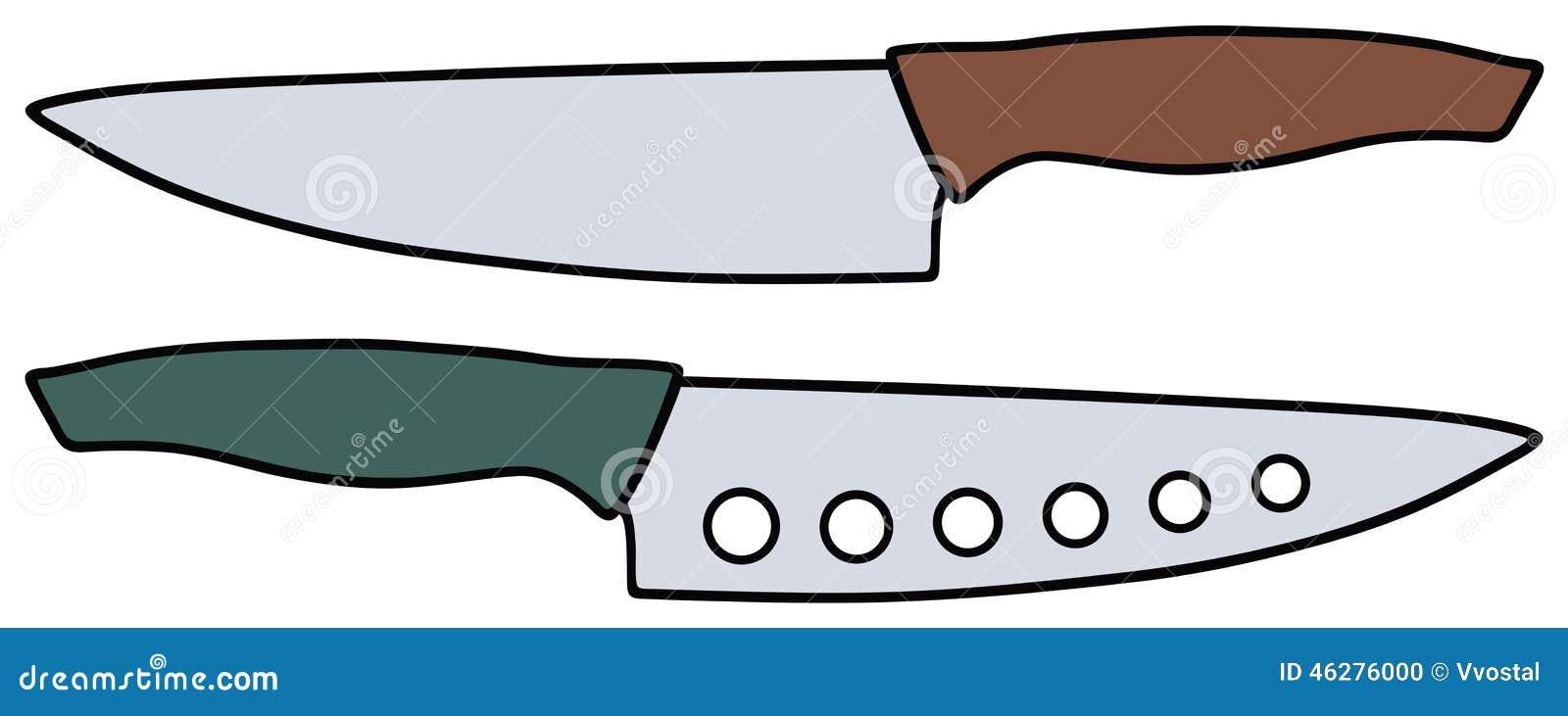 Coltelli da cucina illustrazione vettoriale immagine 46276000 - Coltelli da cucina ...