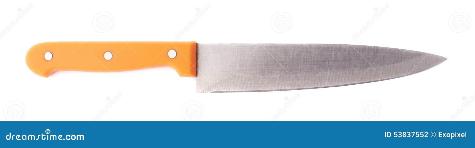 Coltello da cucina d 39 acciaio isolato fotografia stock - Coltello da cucina ...