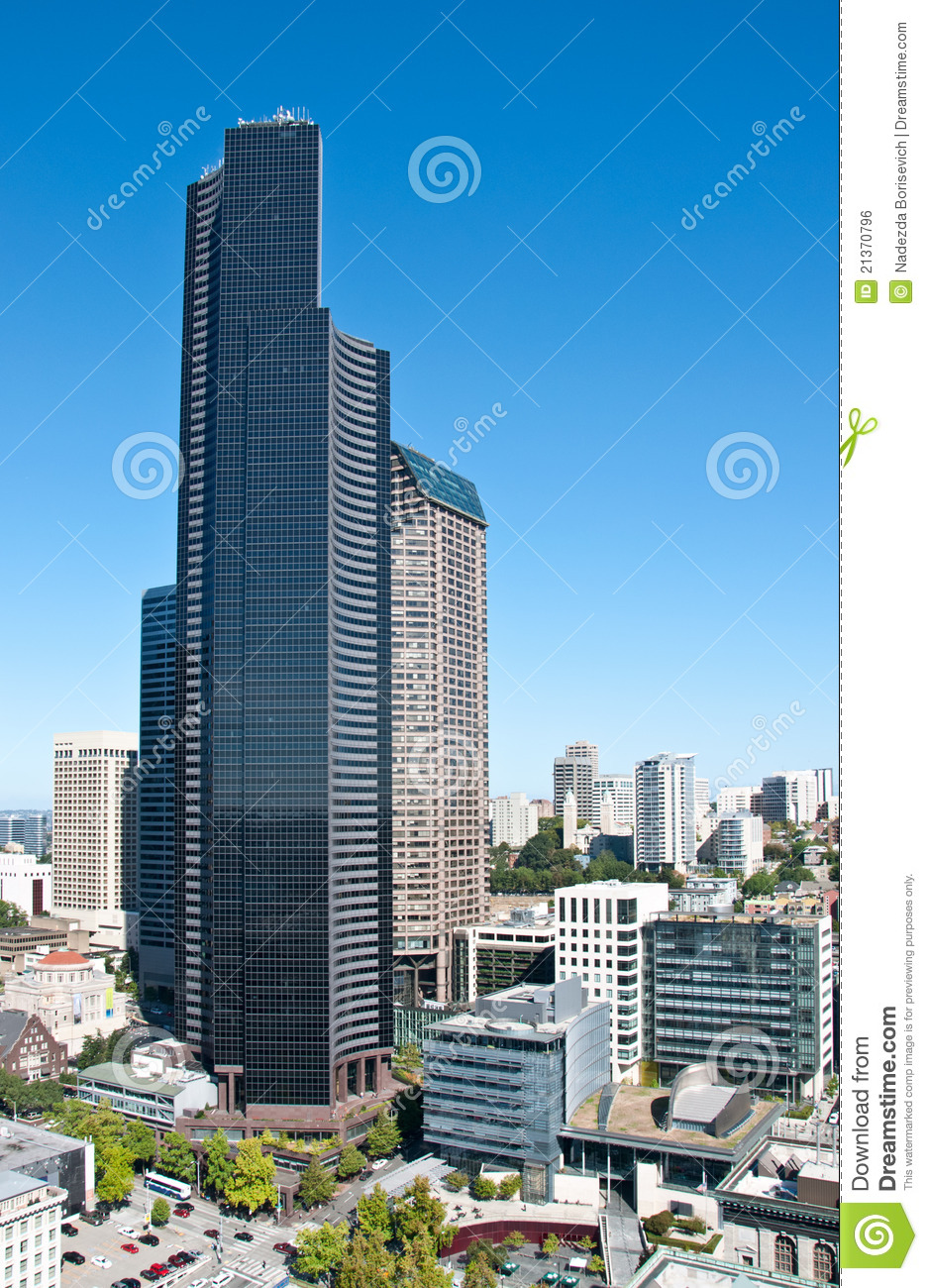 Columbia Center Of Seattle Stock Photo Image Of Downtown