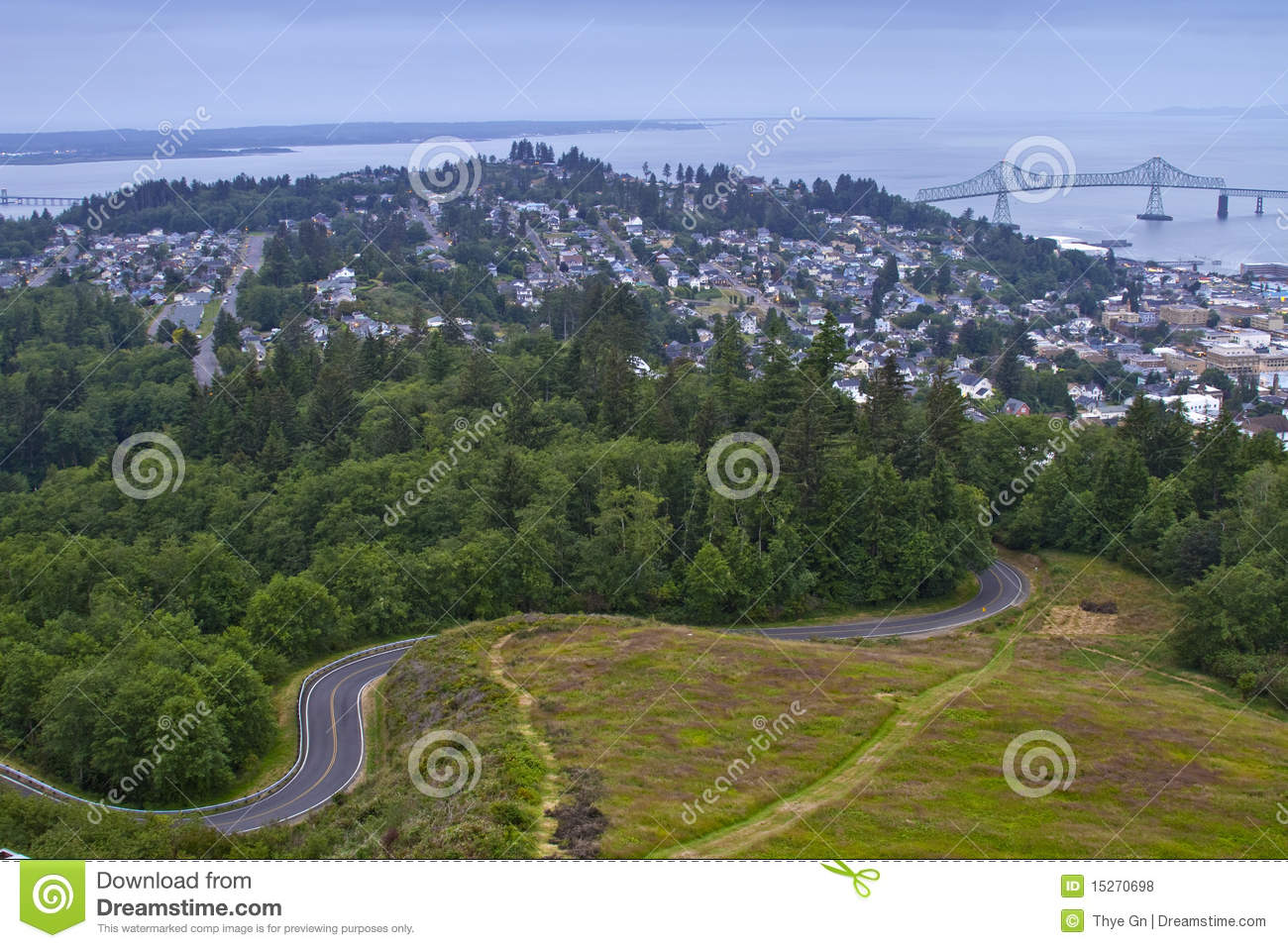 Columbia River Gorge Aerial View 2 Royalty Free Stock Photos - Image ...