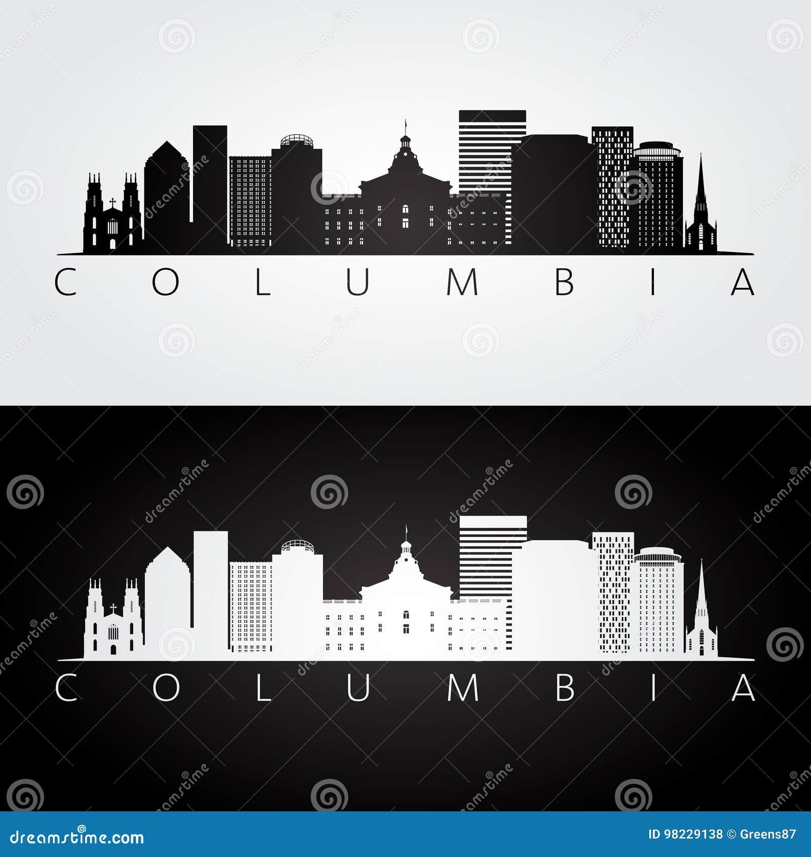 Columbia USA horisont och gränsmärkekontur
