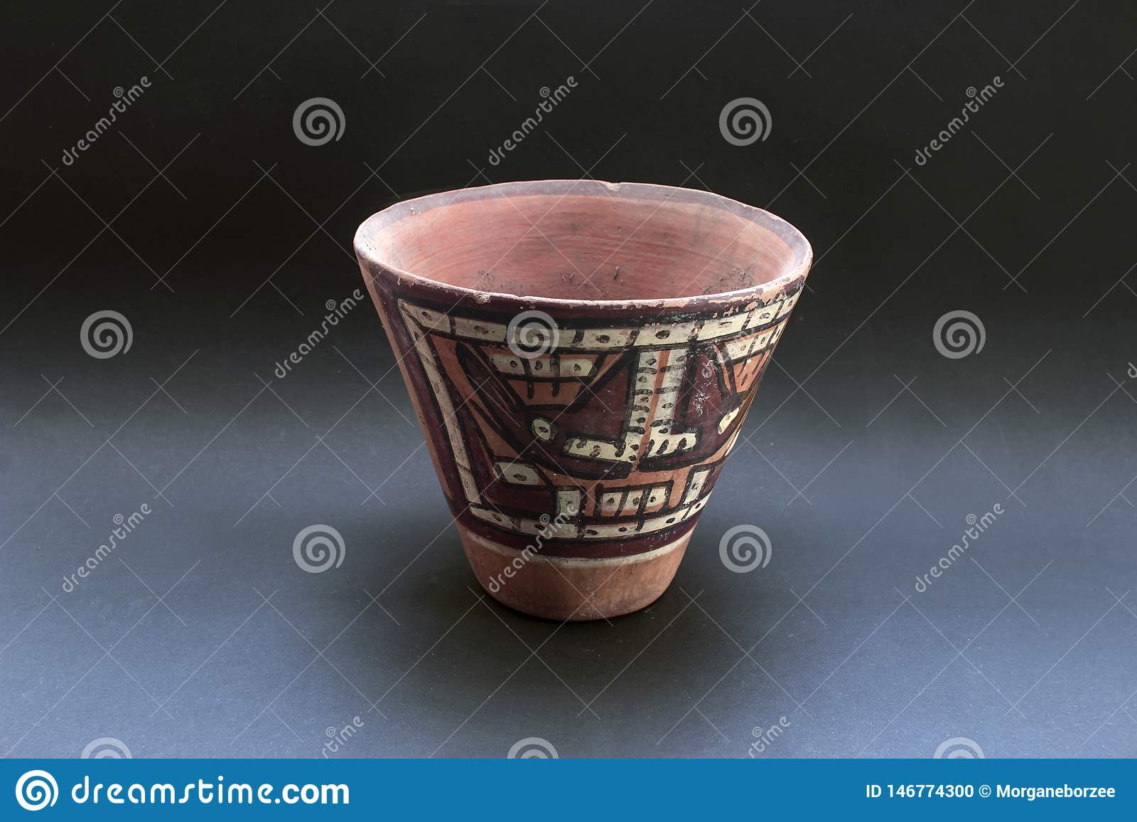 Columbian ceramiczny nazwany «Huaco «od Nazca
