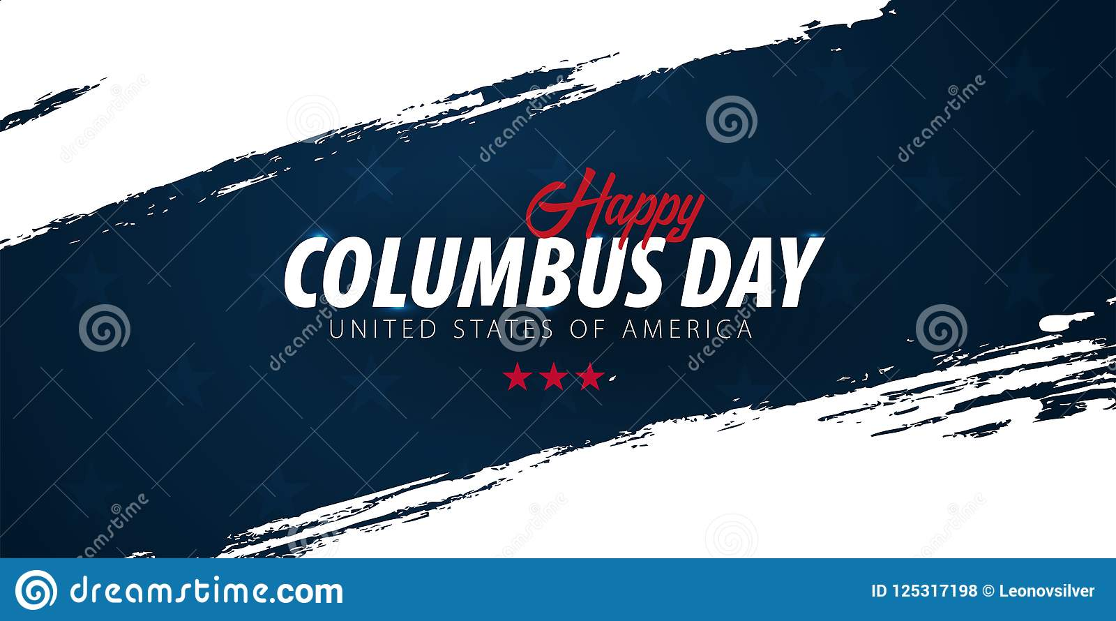 columbus day sale promotion advertising poster banner template