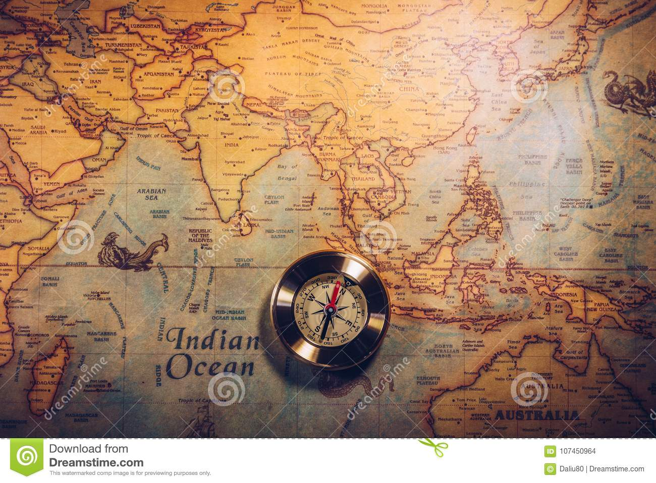 Columbus day and world map with compass stock photo image of burn royalty free stock photo gumiabroncs Image collections