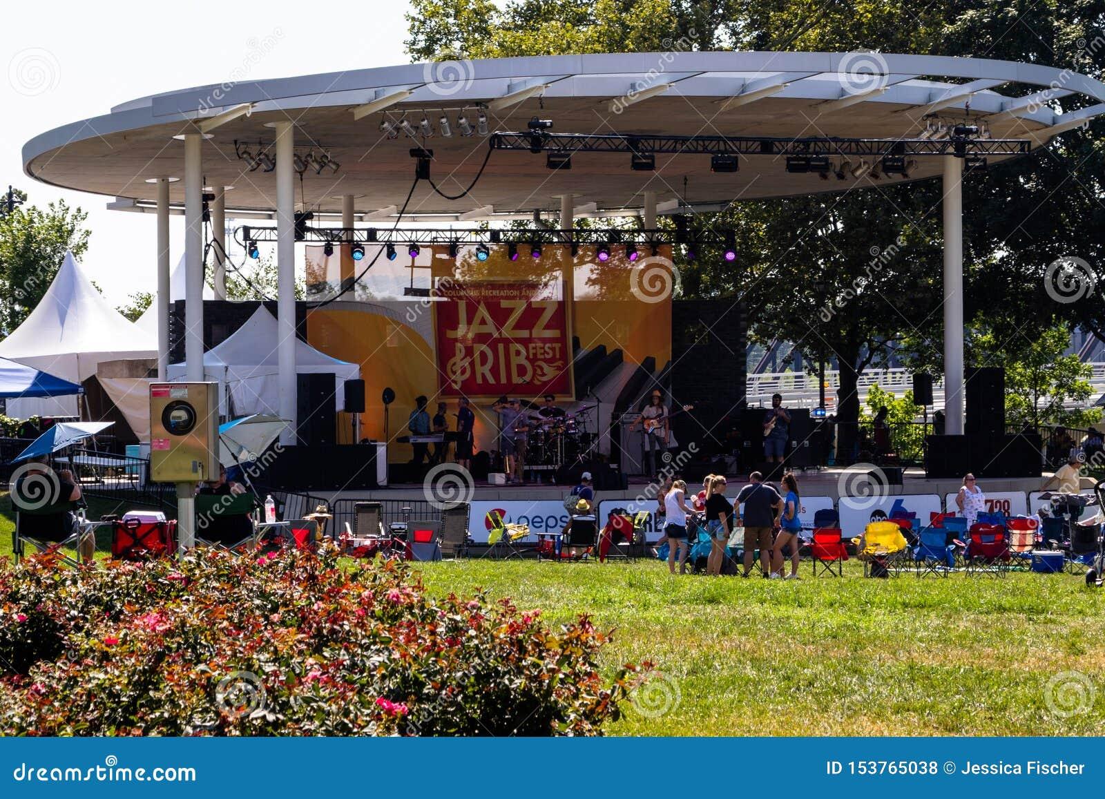 Columbus, l Ohio - 20 luglio 2019 - jazz e Rib Festival