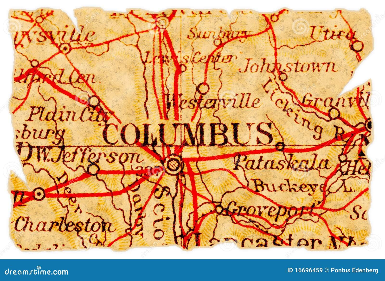 Columbus old map