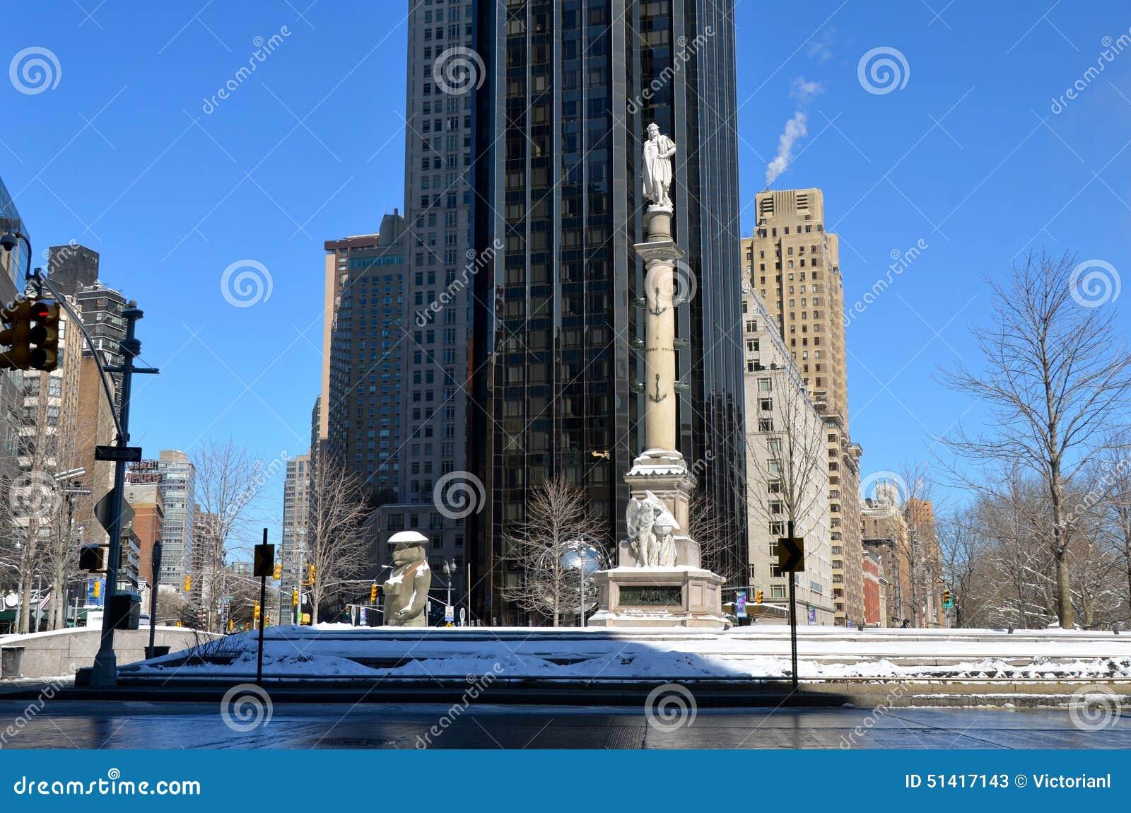 Columbus statue at columbus circle nyc editorial stock for 10 columbus circle 4th floor new york ny 10019
