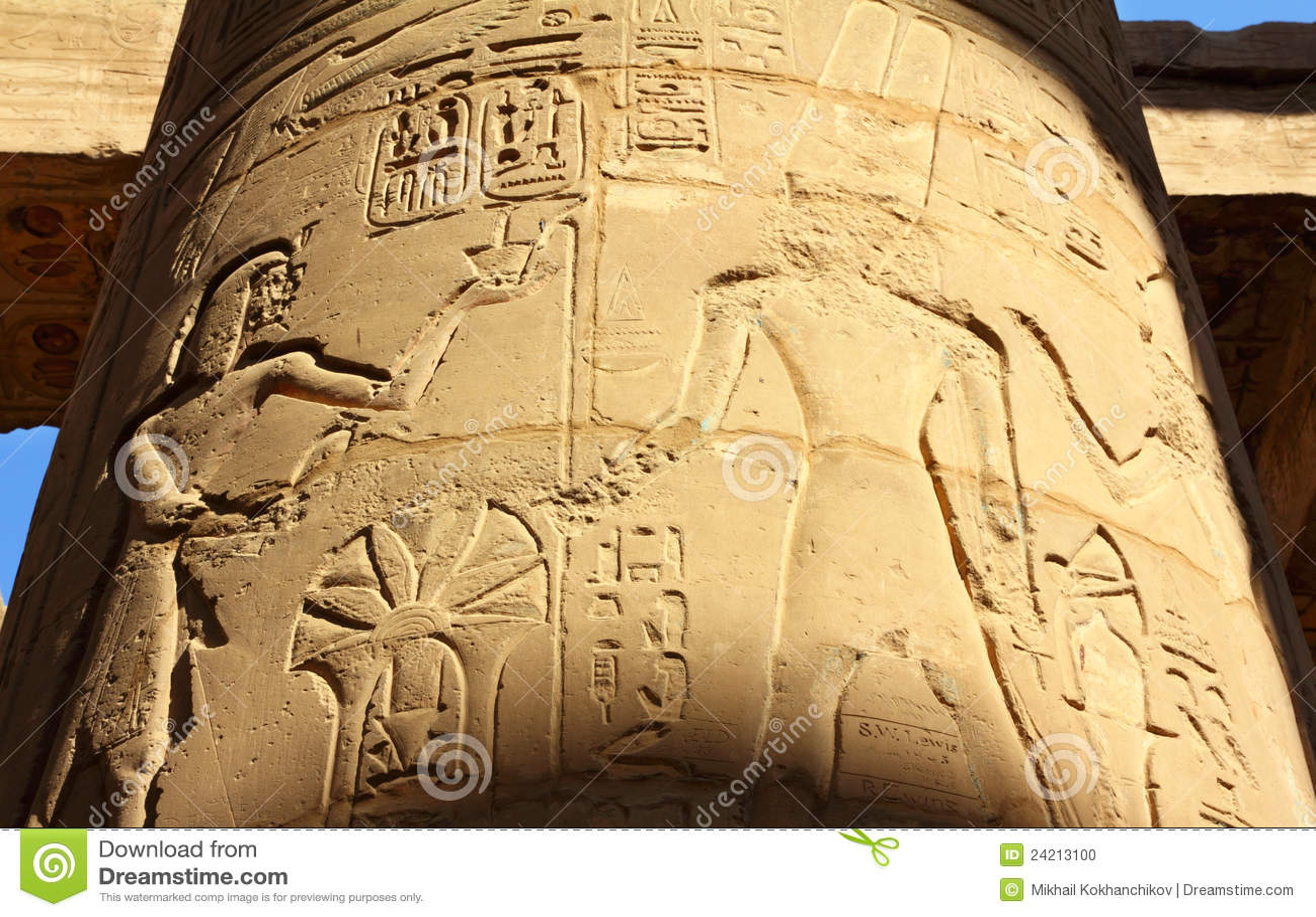 ... Egyptian Hieroglyphics Alphabet Translator Column with ancient egypt