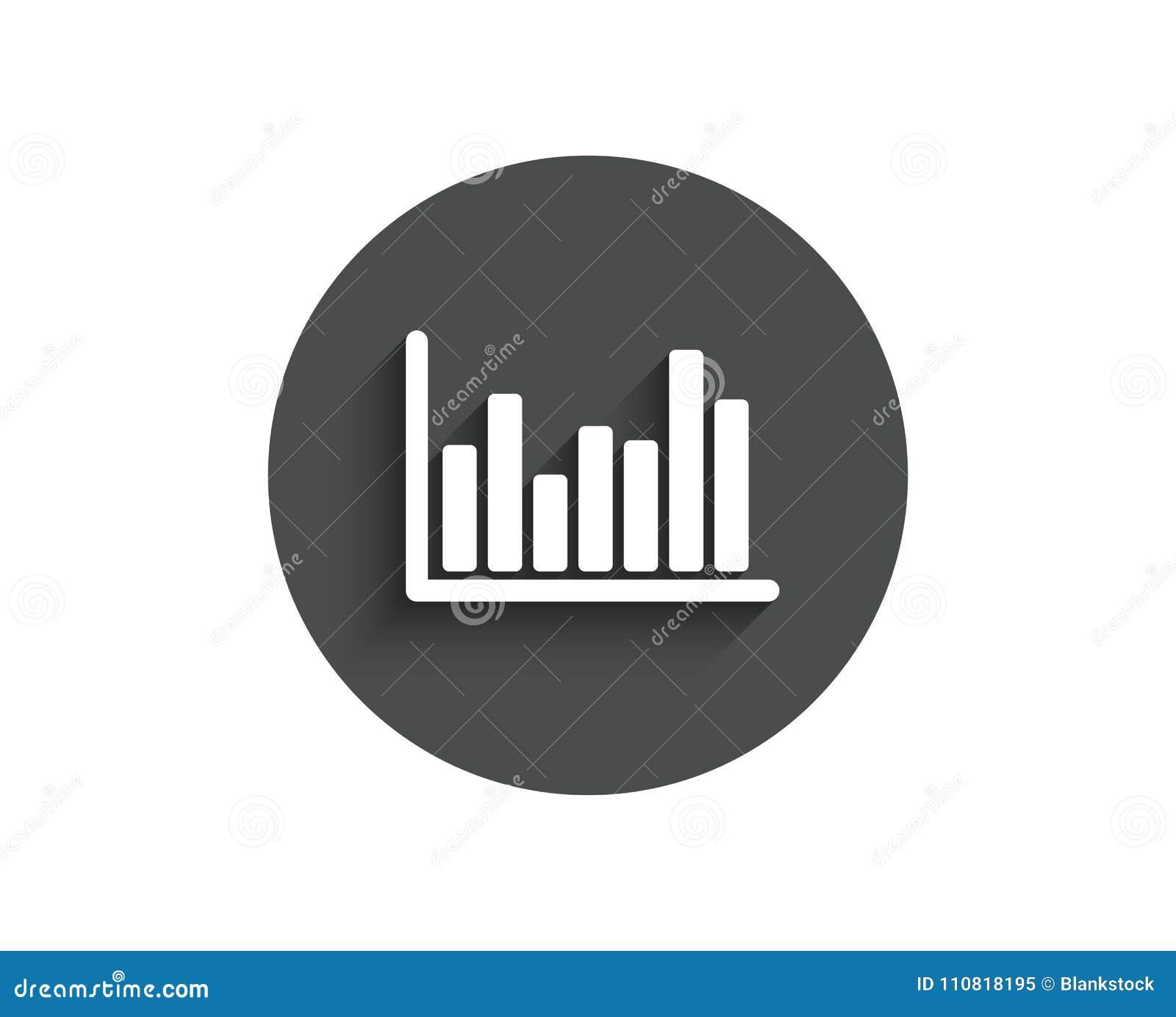 Column Chart Simple Icon Financial Graph Stock Vector