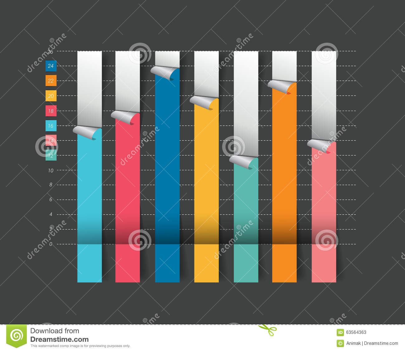 Column flat chart graph on black color stock vector column flat chart graph on black color nvjuhfo Choice Image