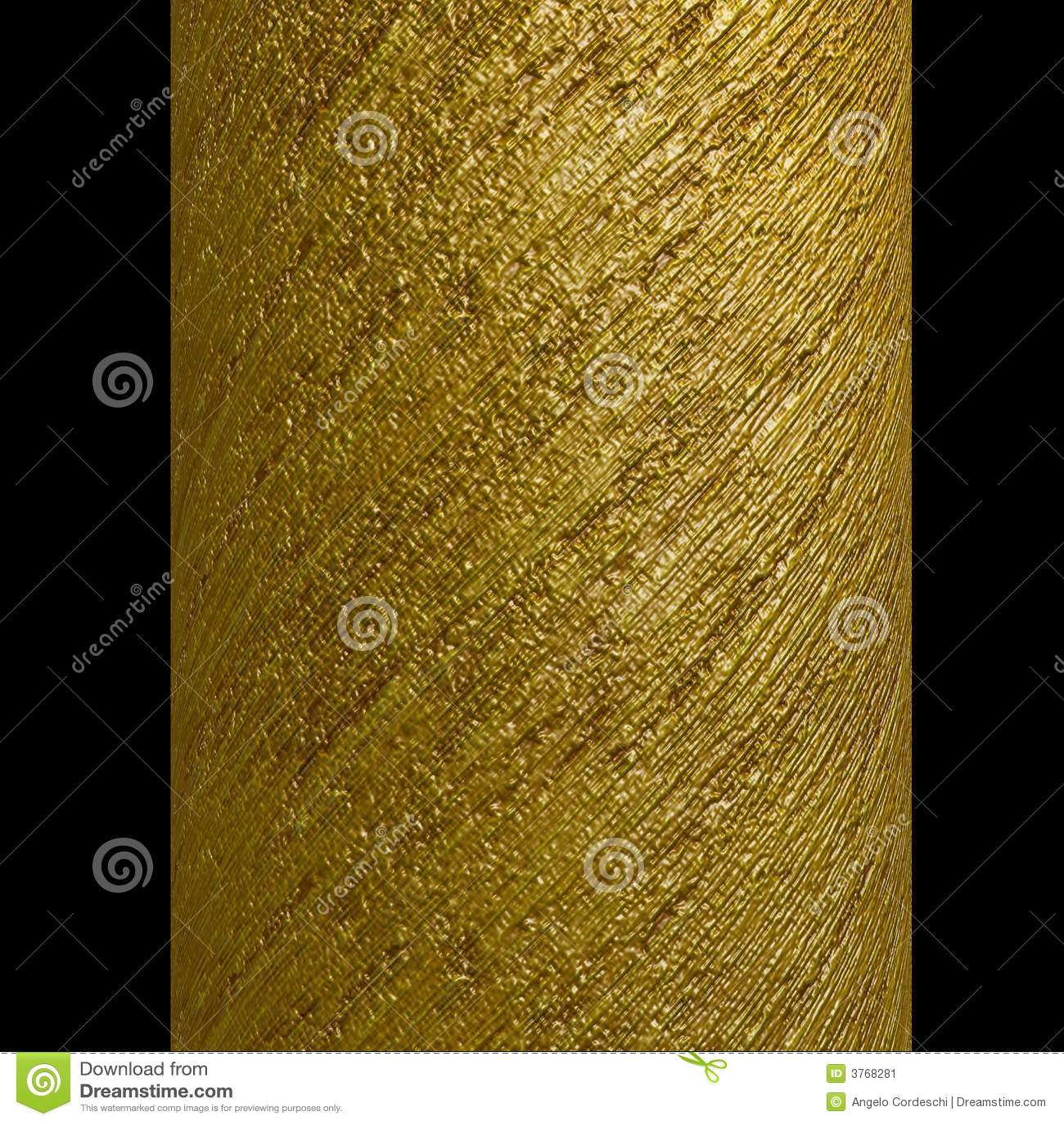 Column gold metallic spiral strips texture