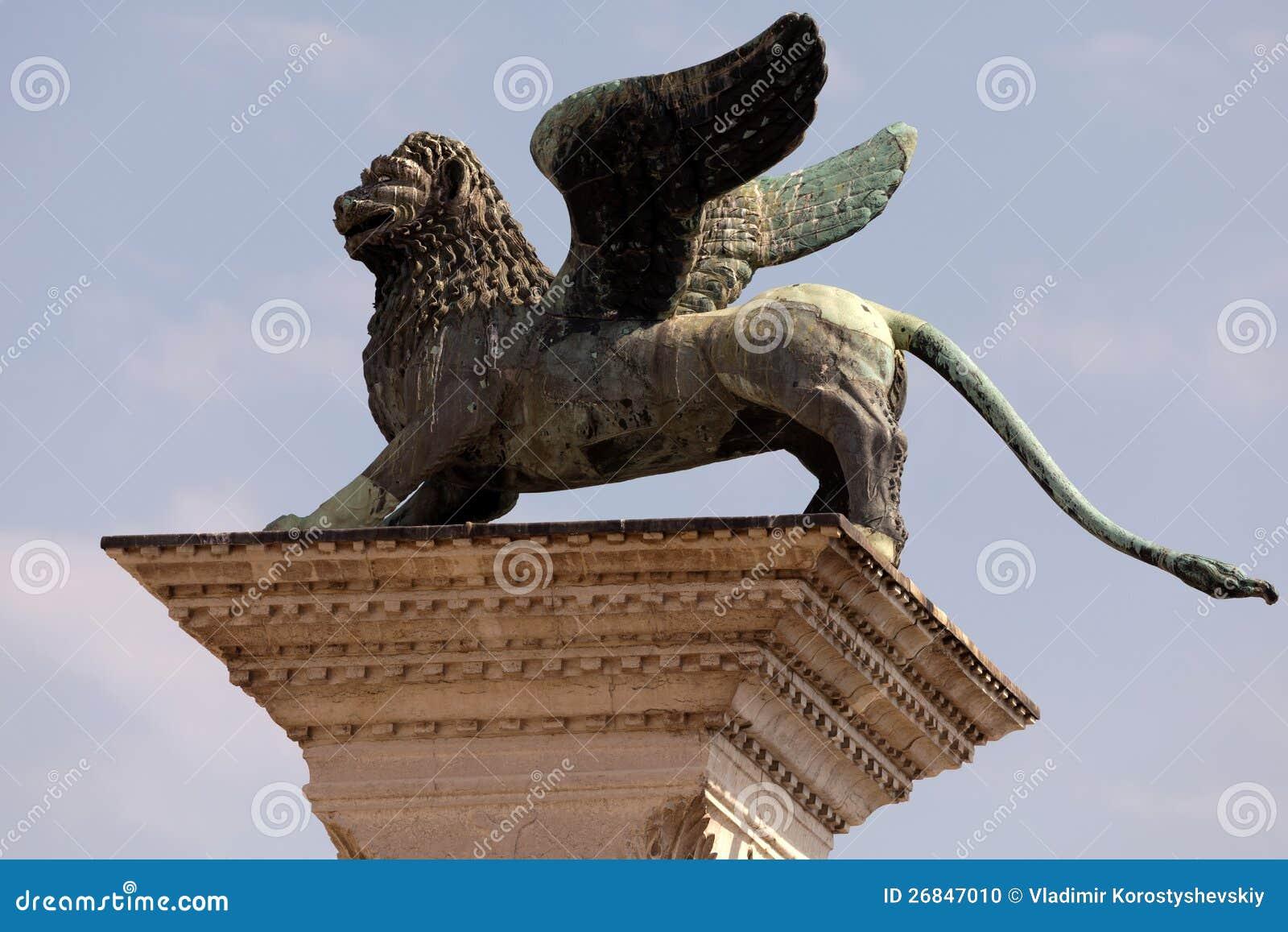 Columna De San Marco En Venecia, Italia Foto de archivo - Imagen de ...