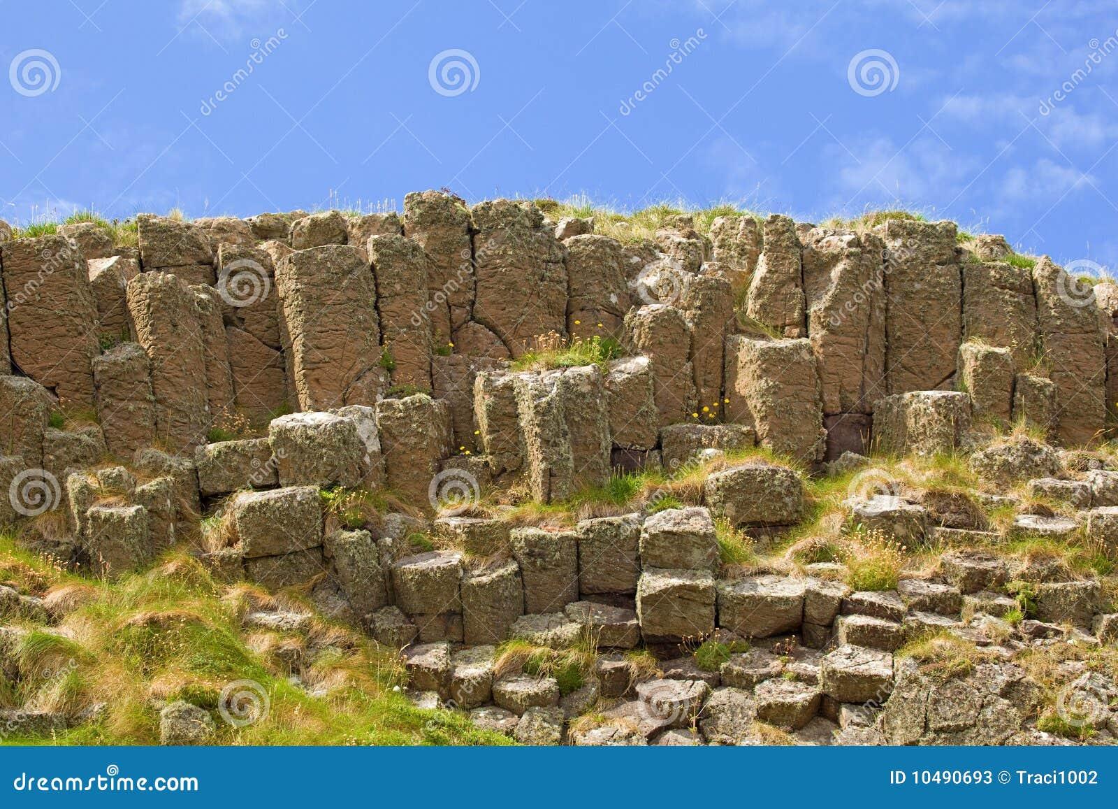 Columnar vulkanisk islestaffa för basalt