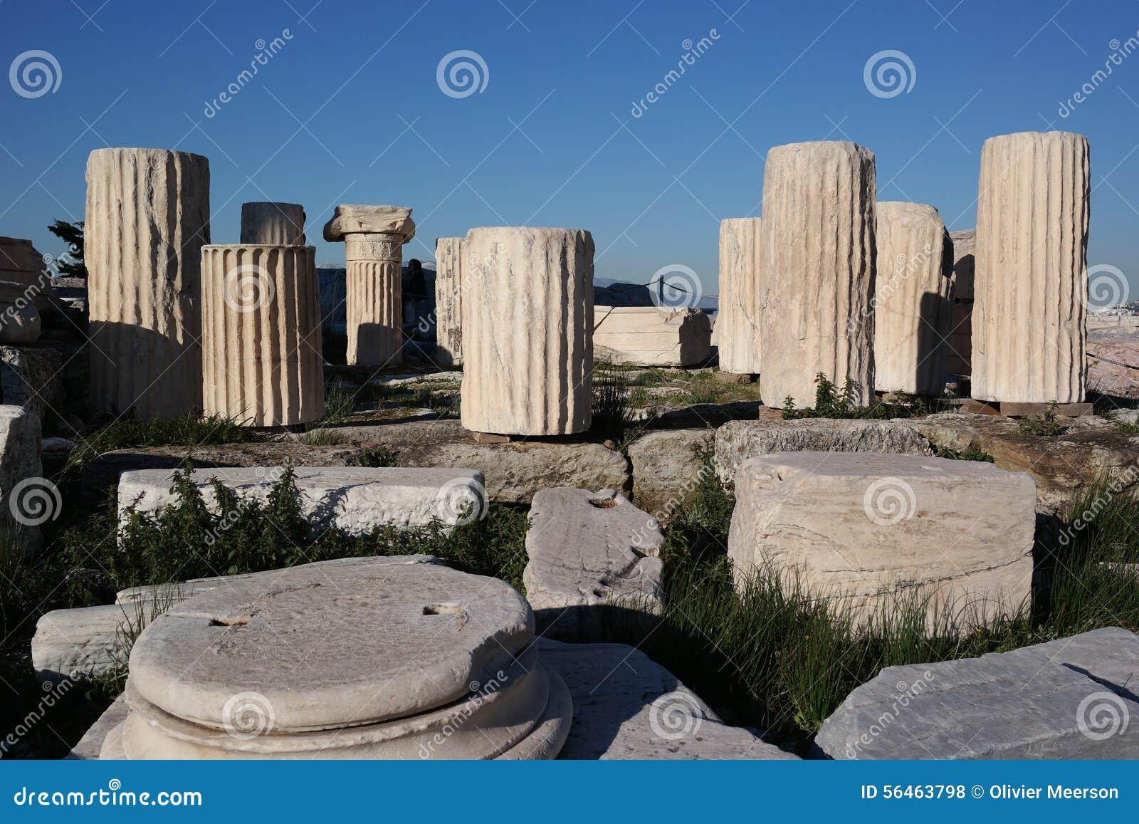 Columnas de la acrópolis, Atenas