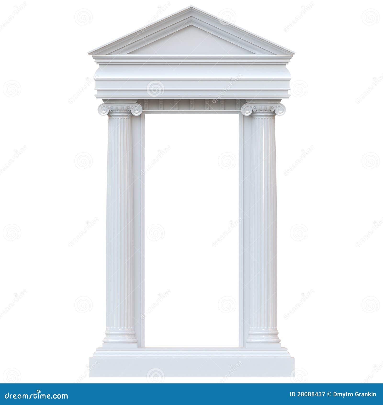 Columnas de m rmol aisladas en el fondo blanco fotograf a - Columna de marmol ...