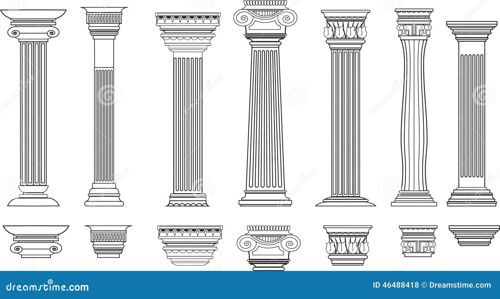 Columnas fijadas de 8 ilustraci n del vector ilustraci n for Pilares y columnas