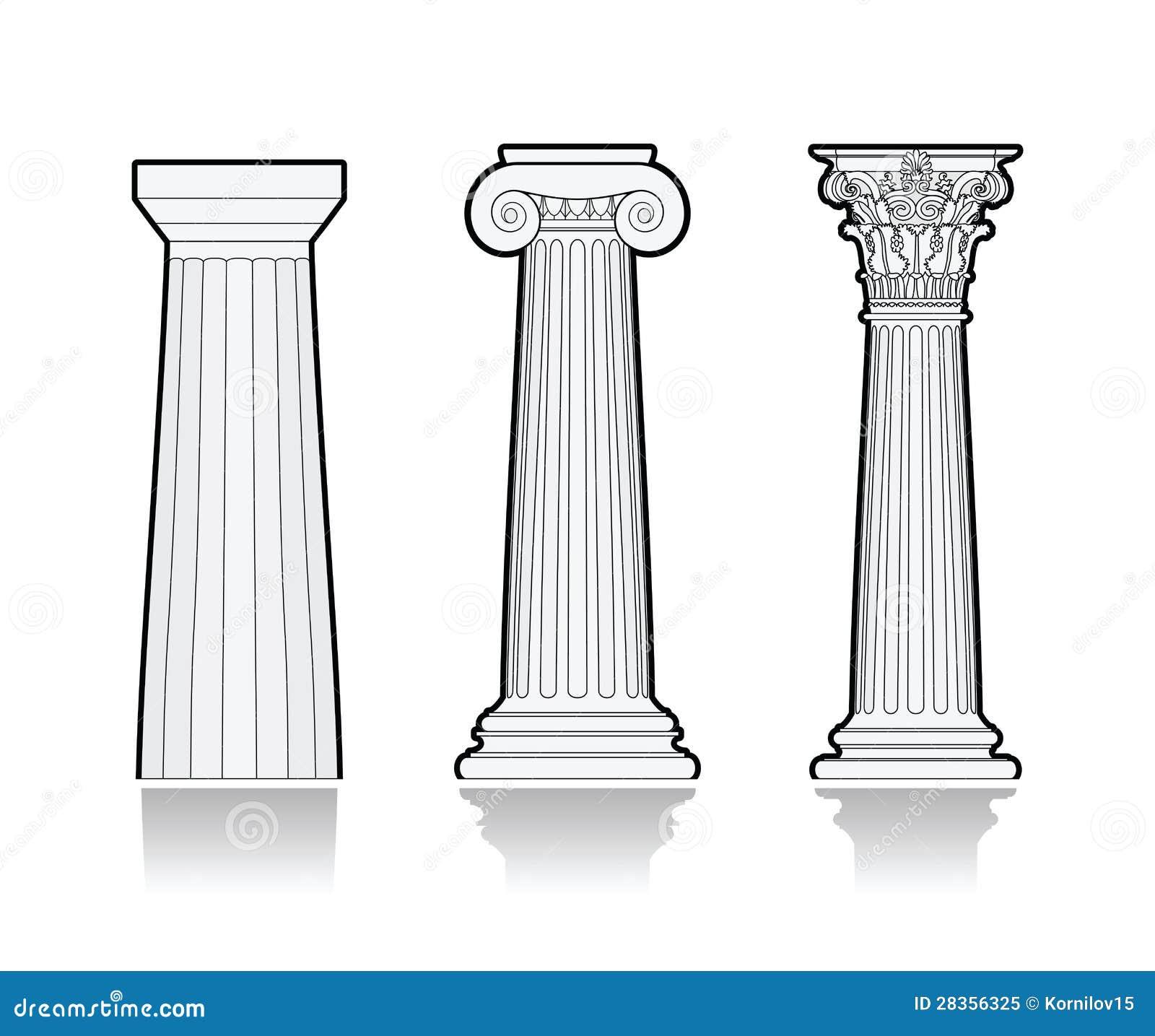 Columnas griegas estilizadas foto de archivo libre de for Colonne esterne di stile dell artigiano